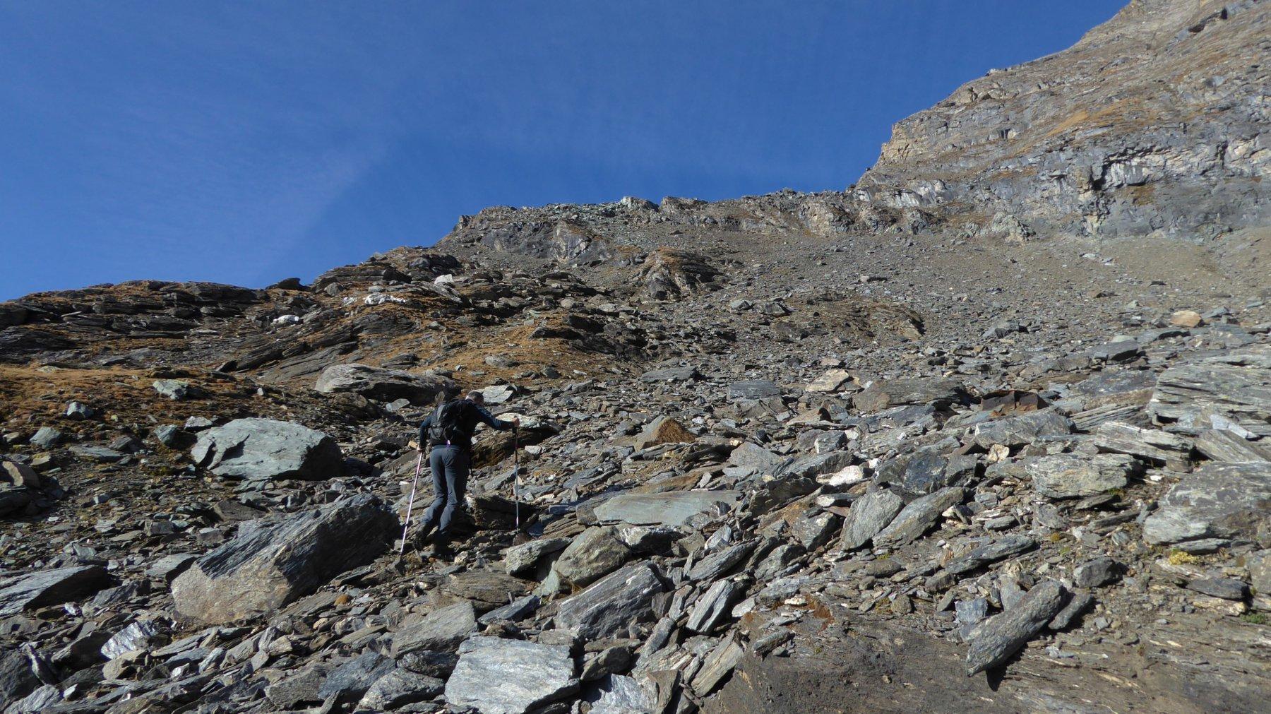 Si punta al centro-destra della pianeggiante cresta
