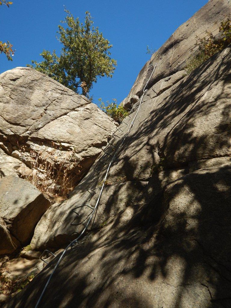 Ultima parte vicino alle vie di arrampicata