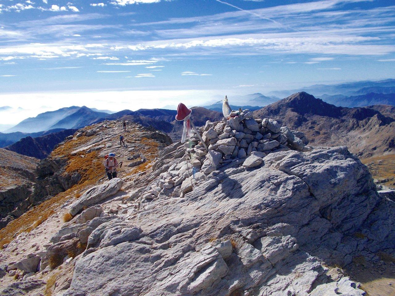 dalla cima vista verso sud ovest