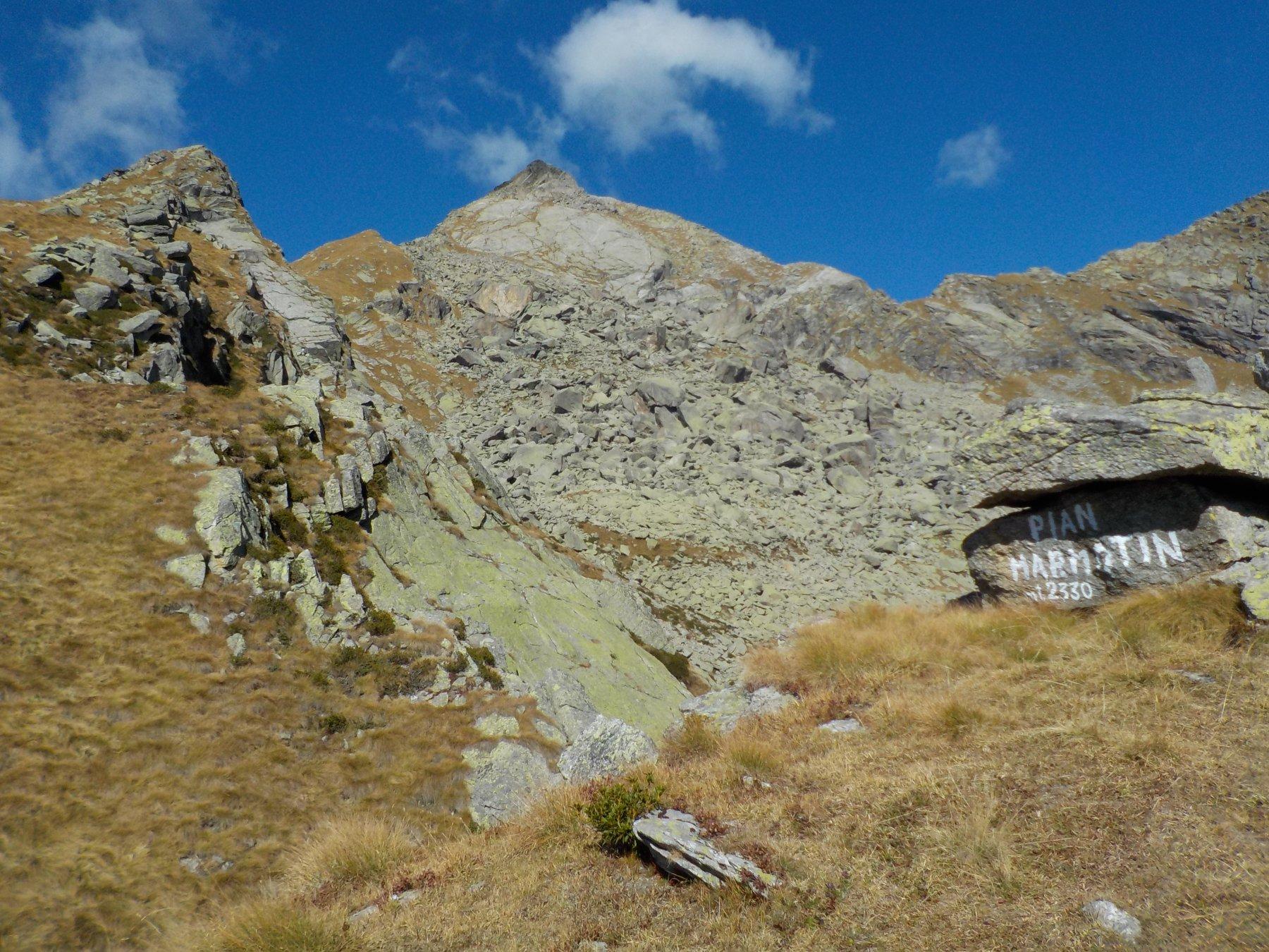 La cima da Pian Marmotin