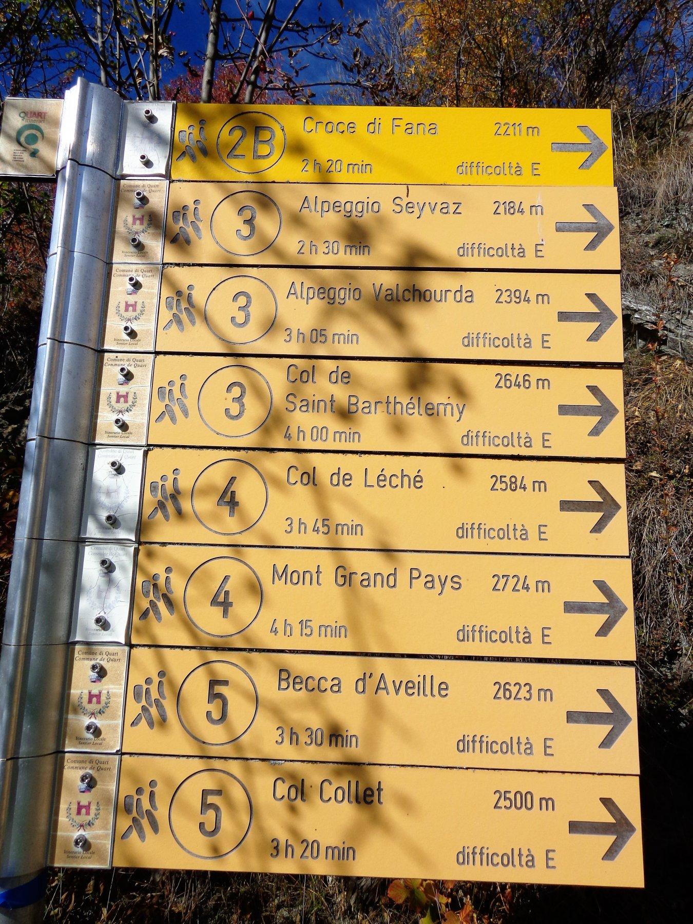Cartelli alla partenza