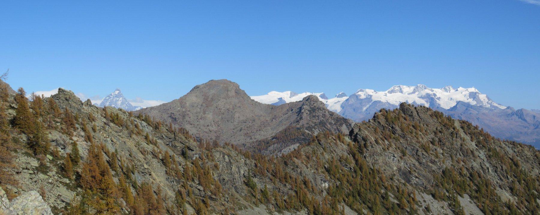 Splendido panorama sul Cervino e Monte Rosa