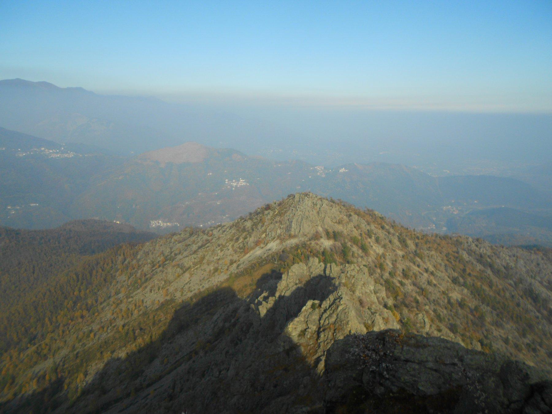 Bella vista dalla punta verso le alte valli di Lanzo