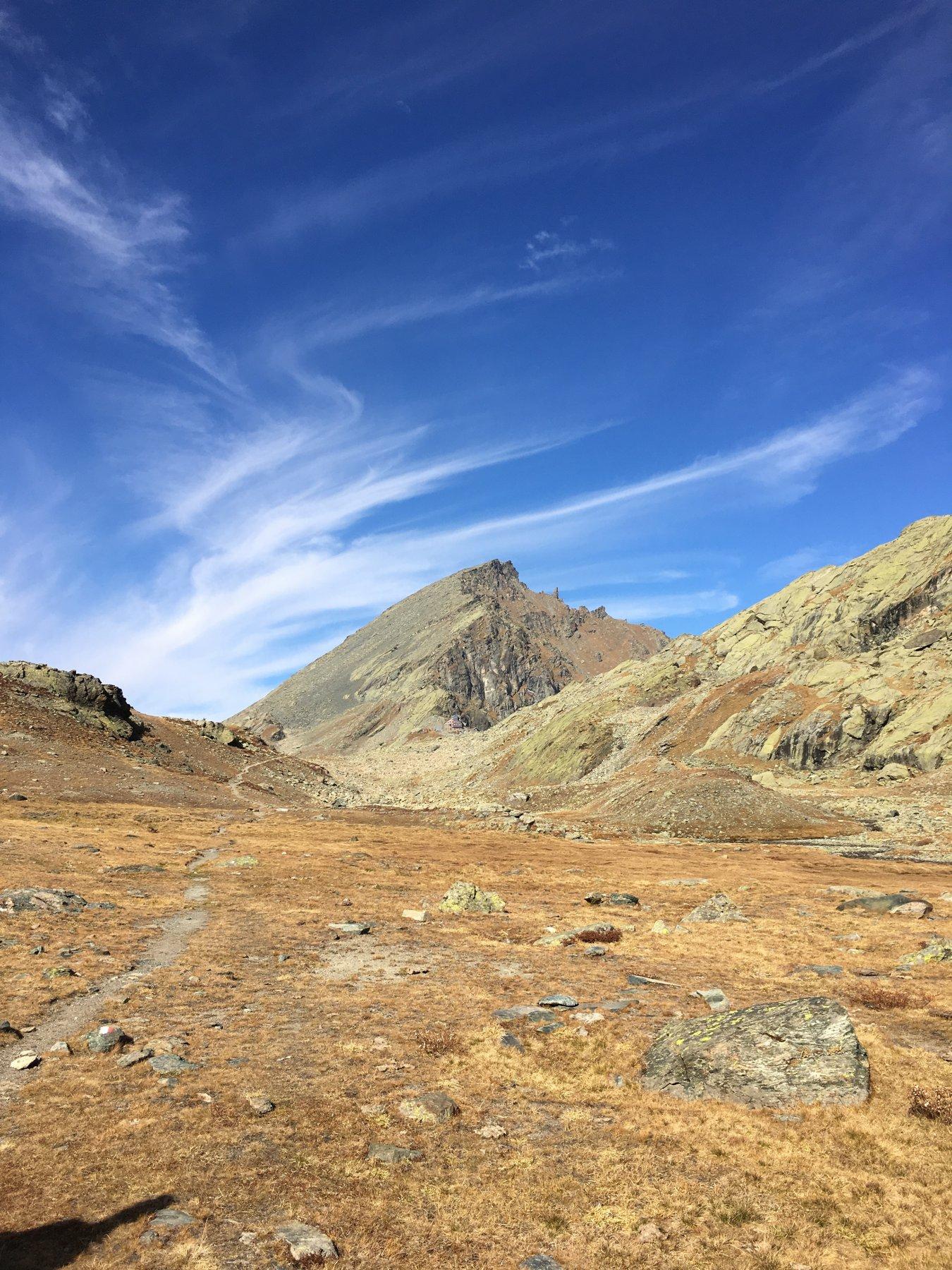 Viso Mozzo da Meire Dacant per il Vallone dell'Alpetto 2017-10-13
