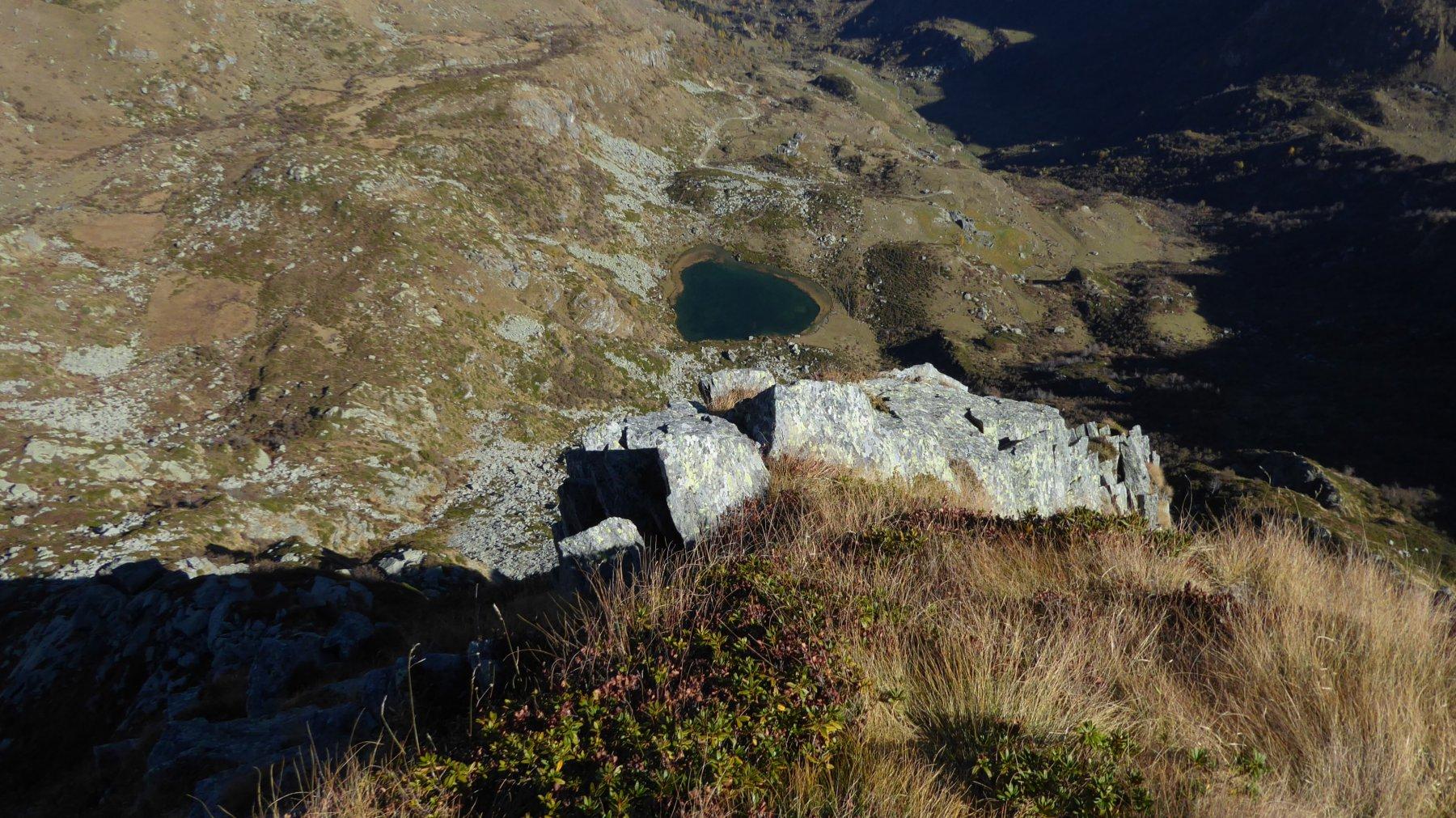 Il lago visto dall'Uja di Pratofiorito