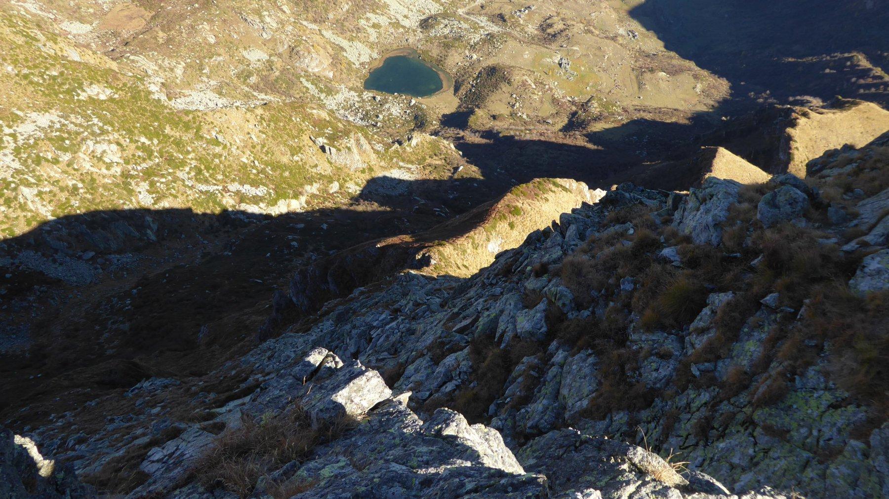 Versante nord della Marsè e Lago di Pratofiorito