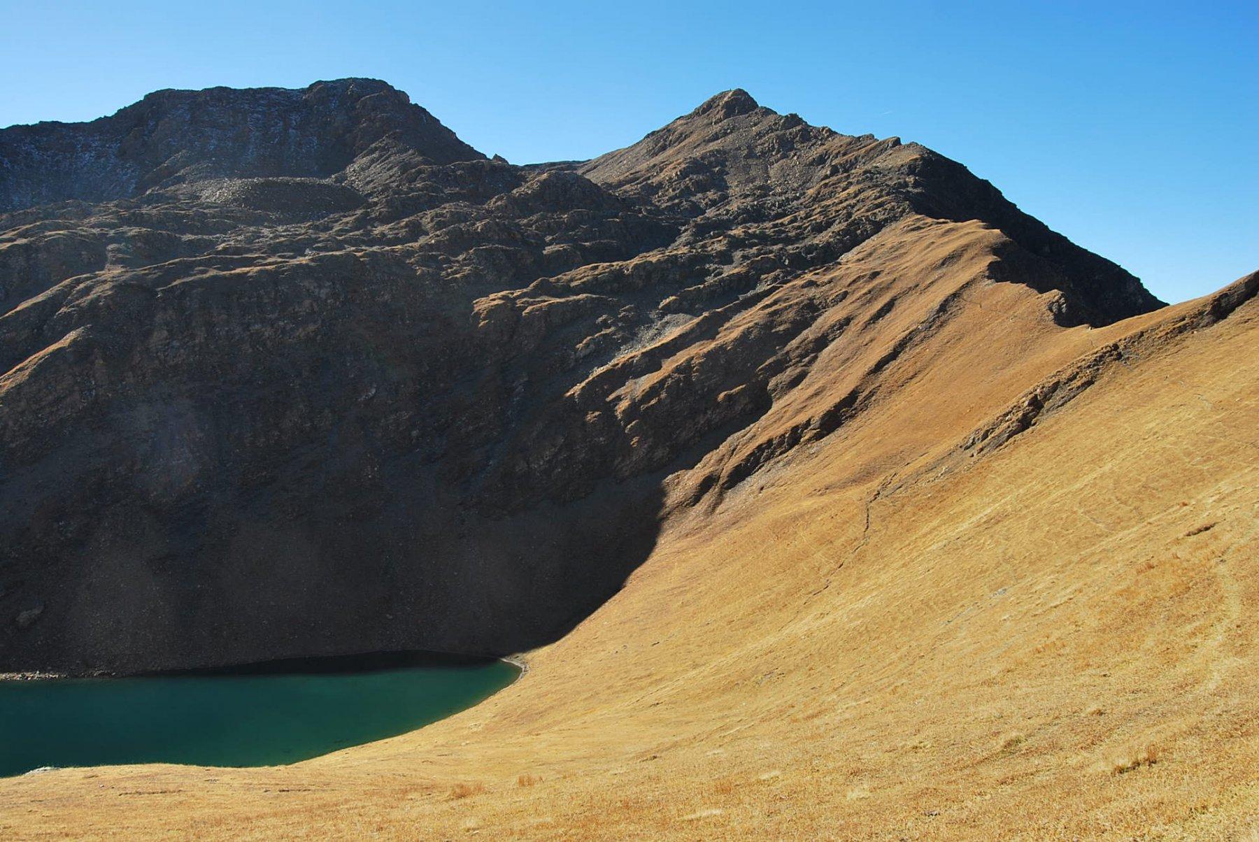 Overview salendo: Lago, Colle e Teste di Liconi