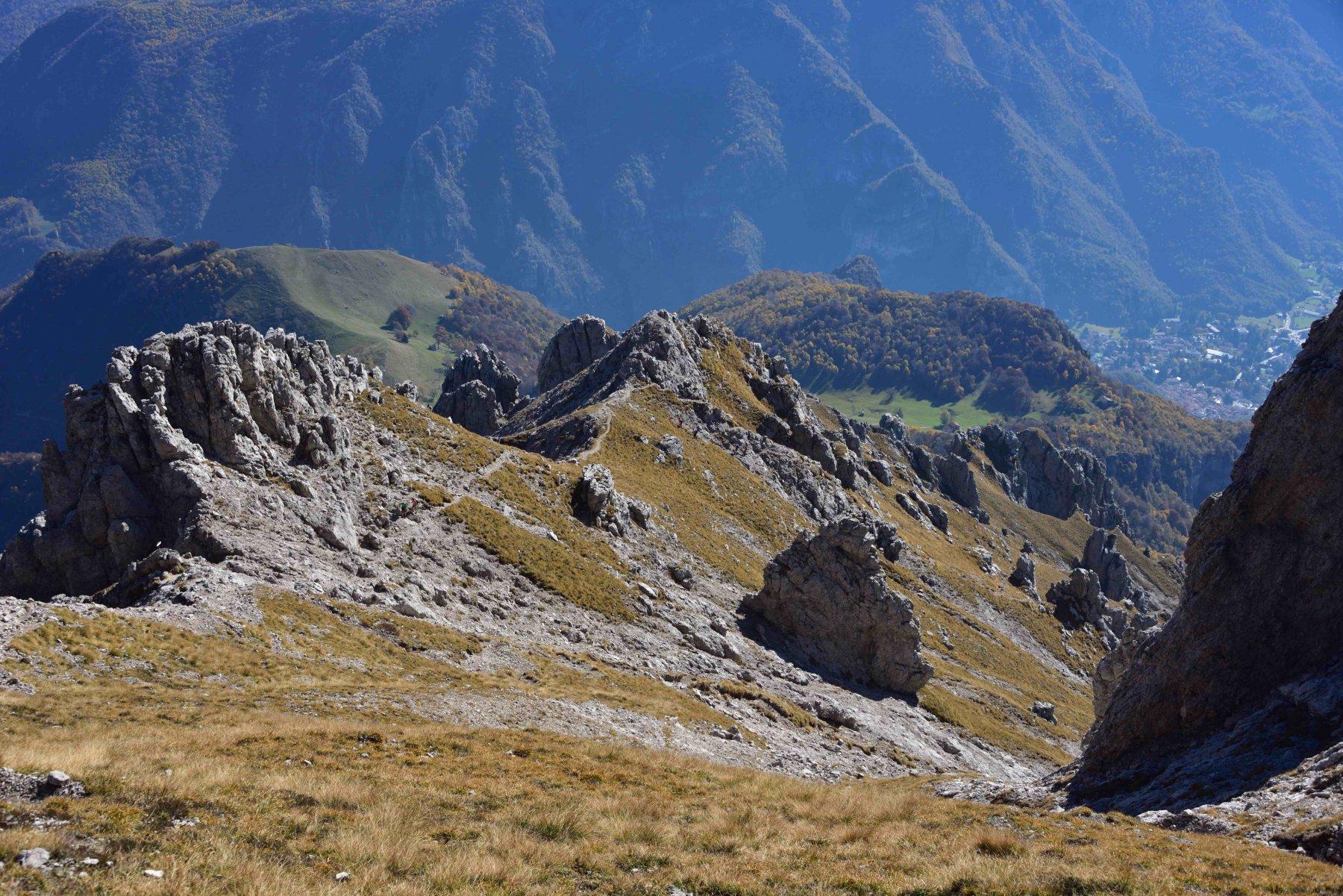 La Cresta Sinigaglia vista dai pressi del Passo del Gatto.