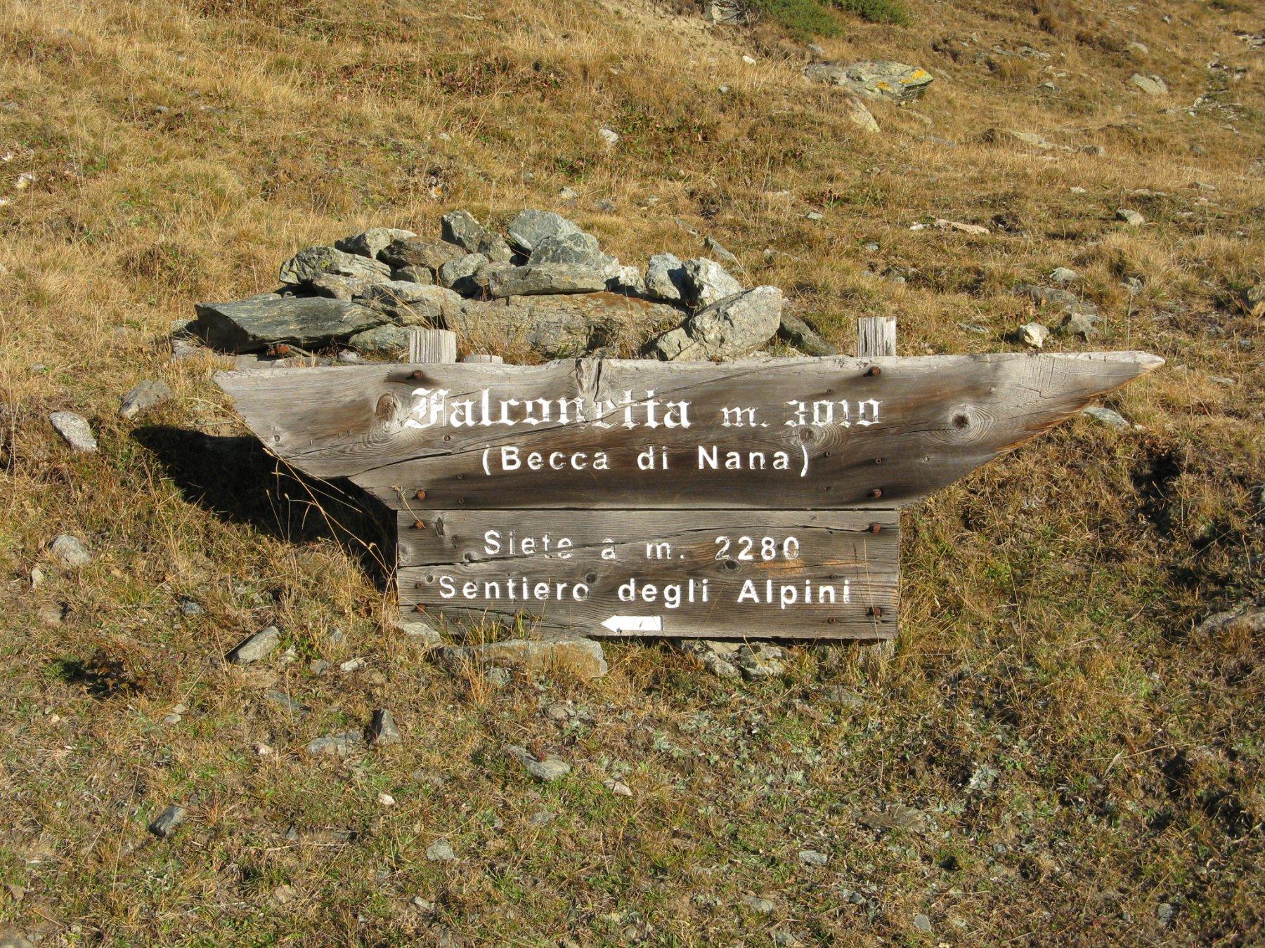Indicazioni all'Alpe Vascoccia