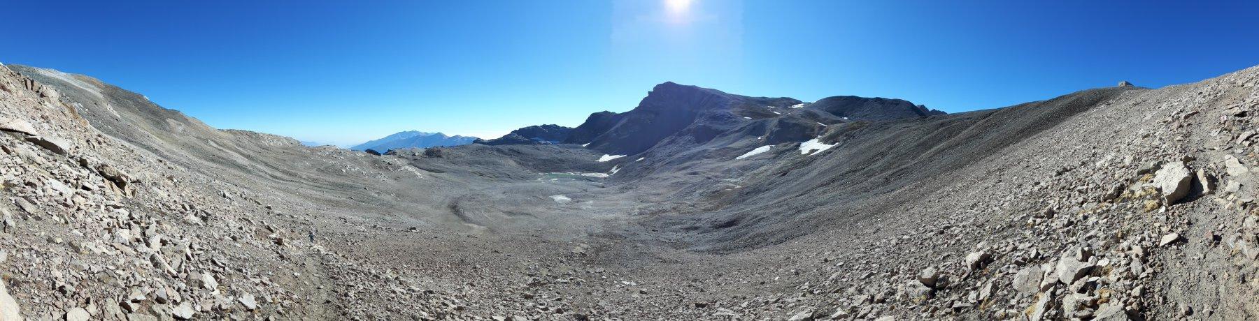 Gli ex ghiacciaio e lago Galambra.