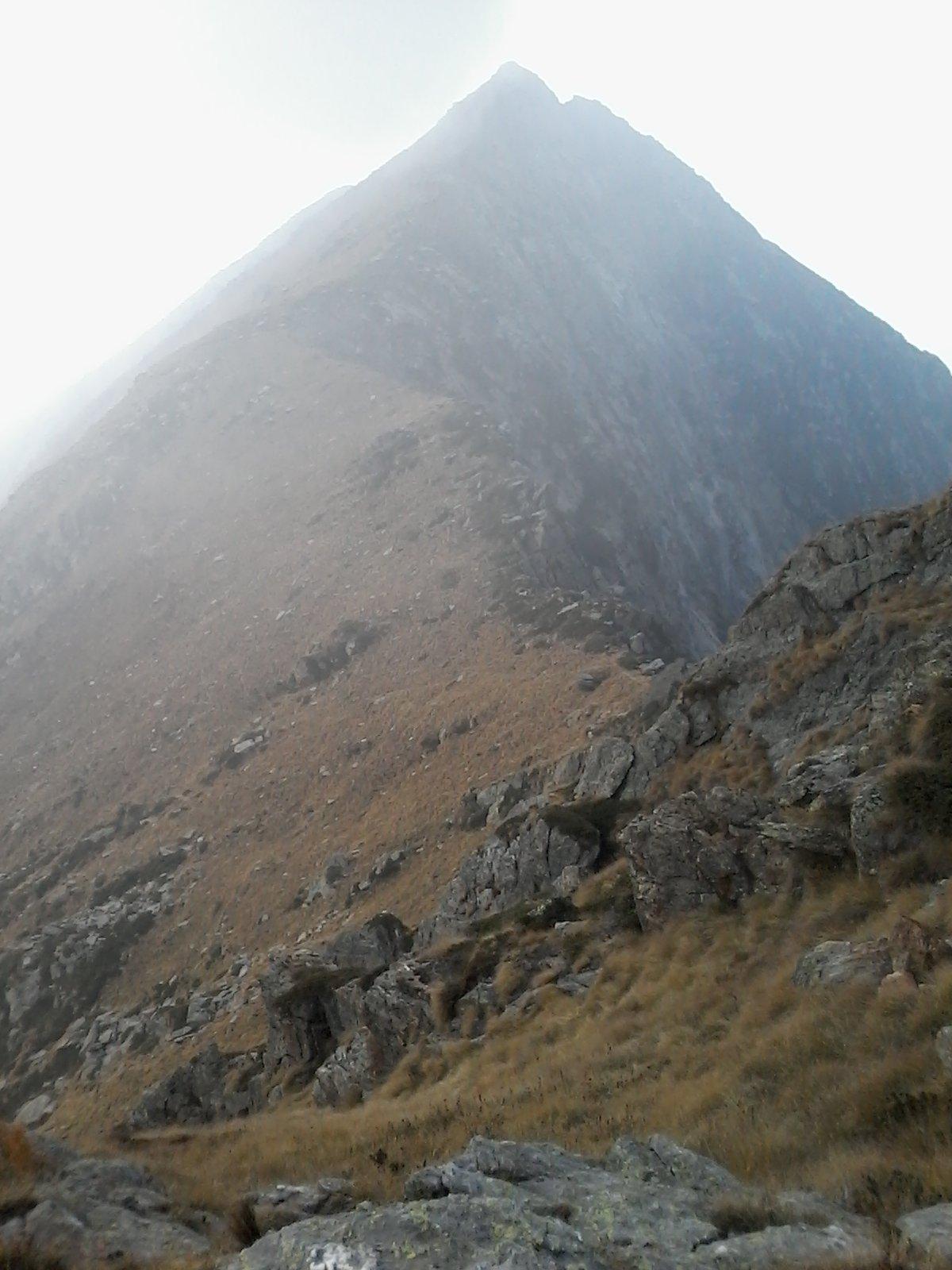 La cresta verso il Monte di Canaussa, dal Colle di Bora Freida