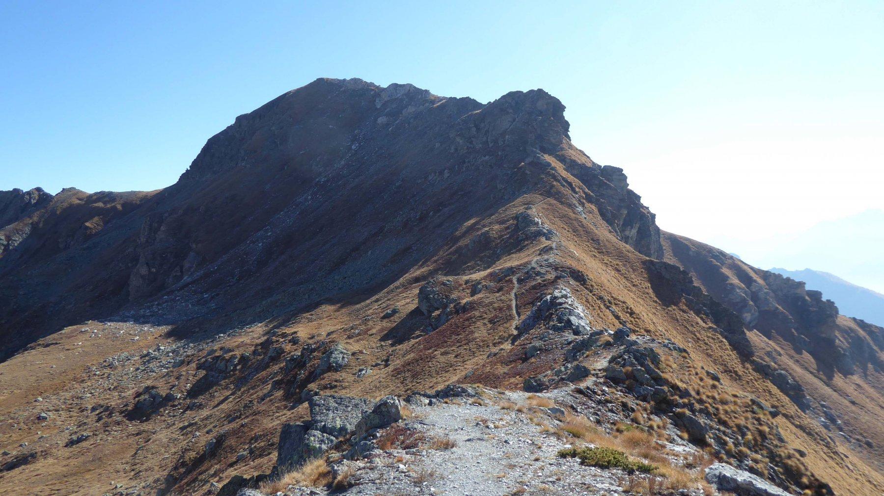 La cresta di salita al M. Morion   2709 m.