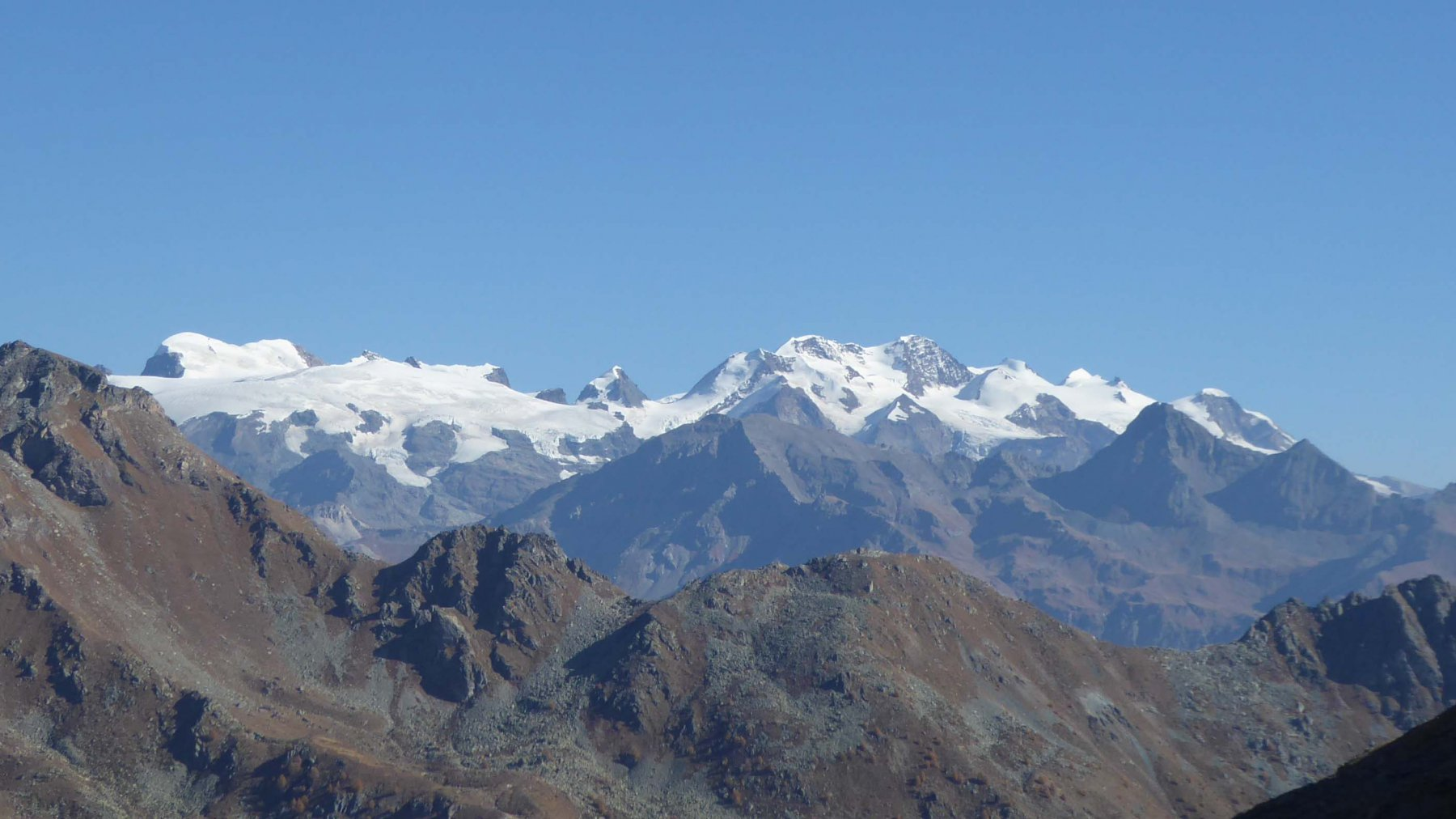 Panorama su M.Rosa dall'Alpe Fontaney  2302 m.