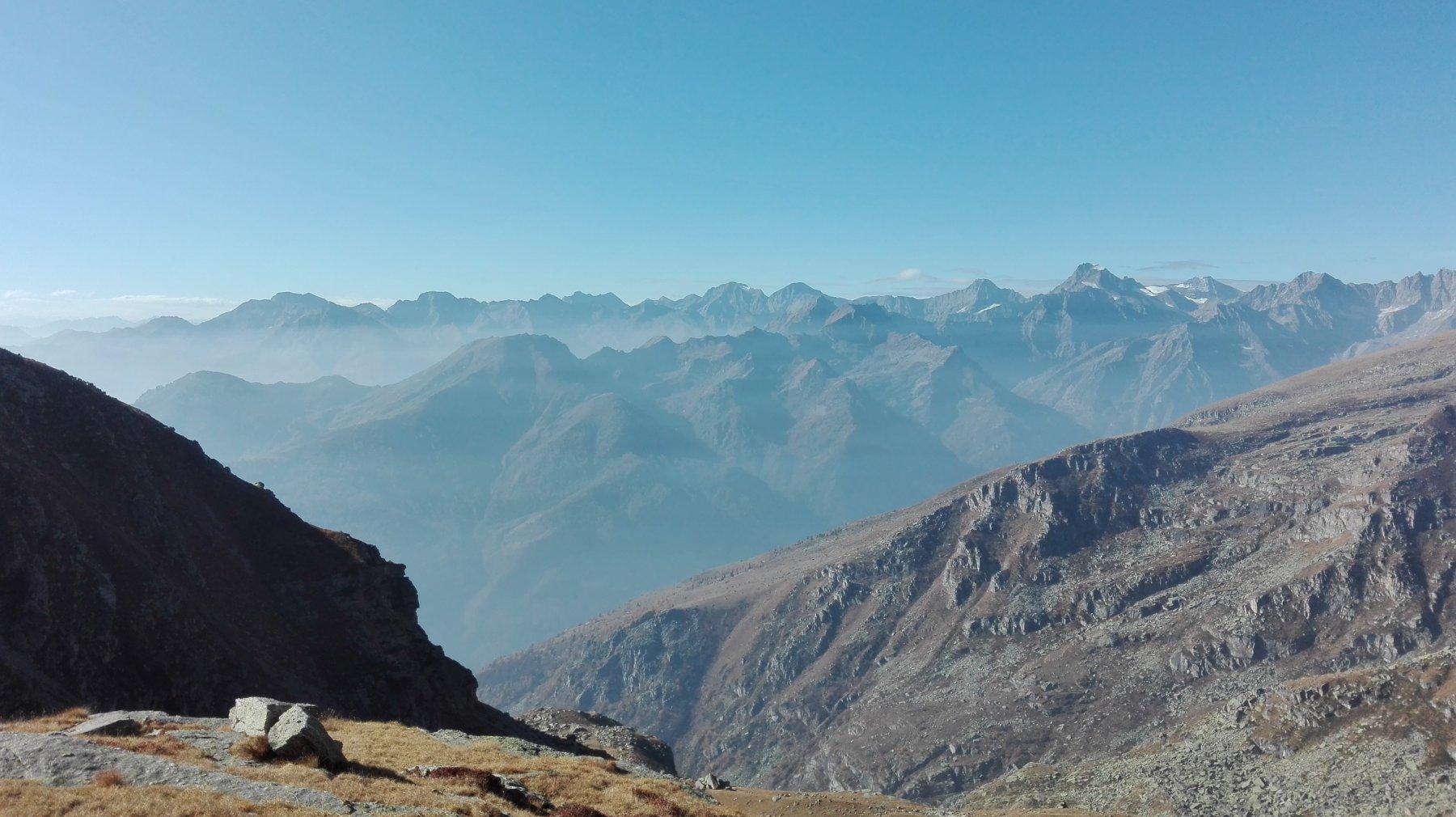 Il panorama dal Colle della Forca