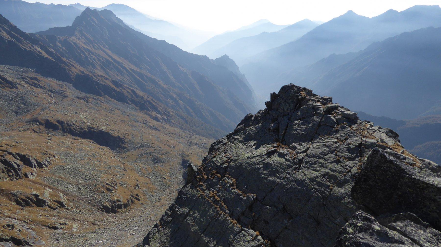Veduta dall'alto, sul vallone di salita