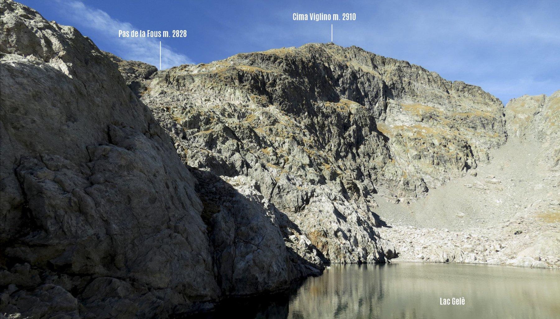 uno sguardo verso la cima dal Lac Gelè