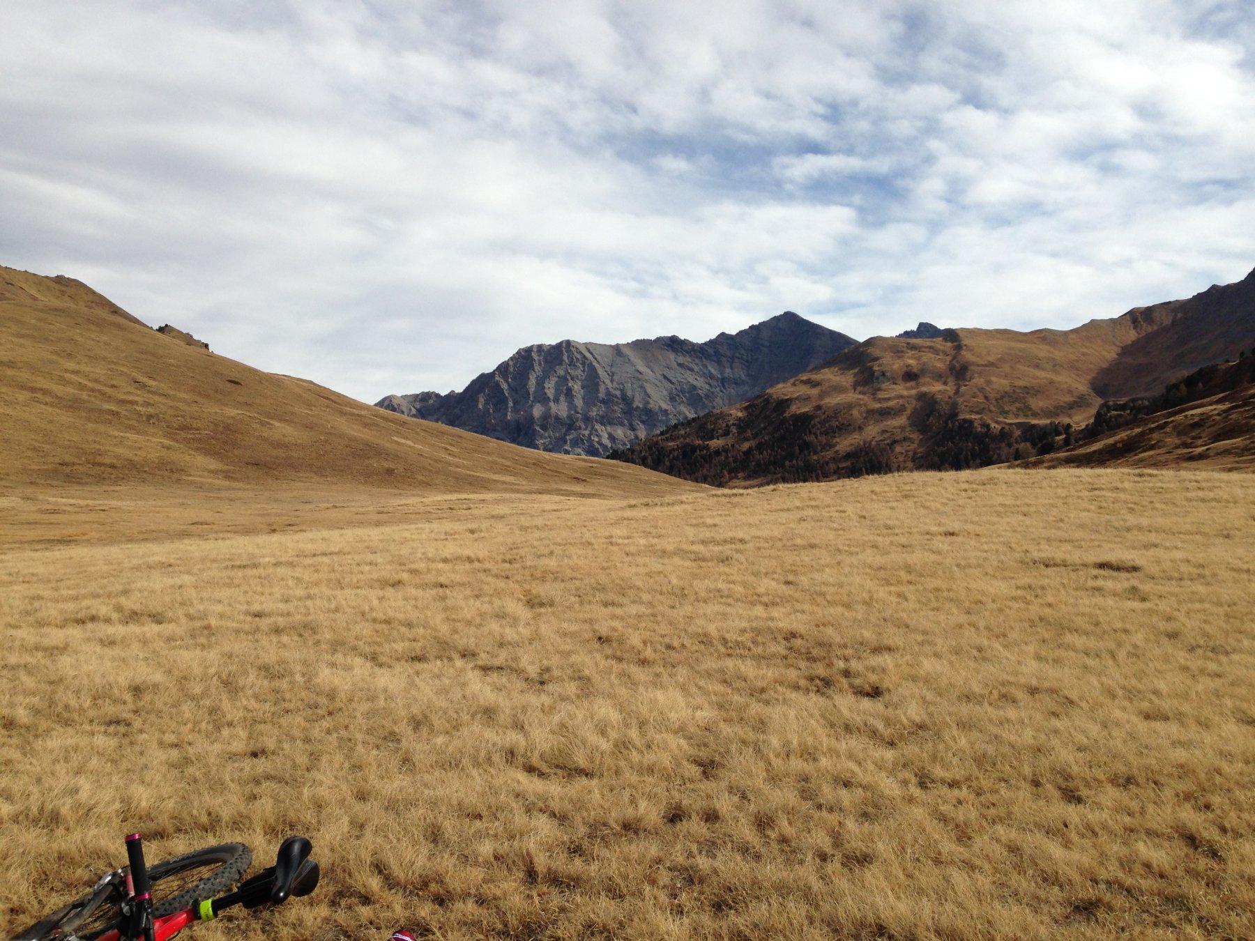 Punto panoramico nel punto più alto (alpeggio) versante di salita