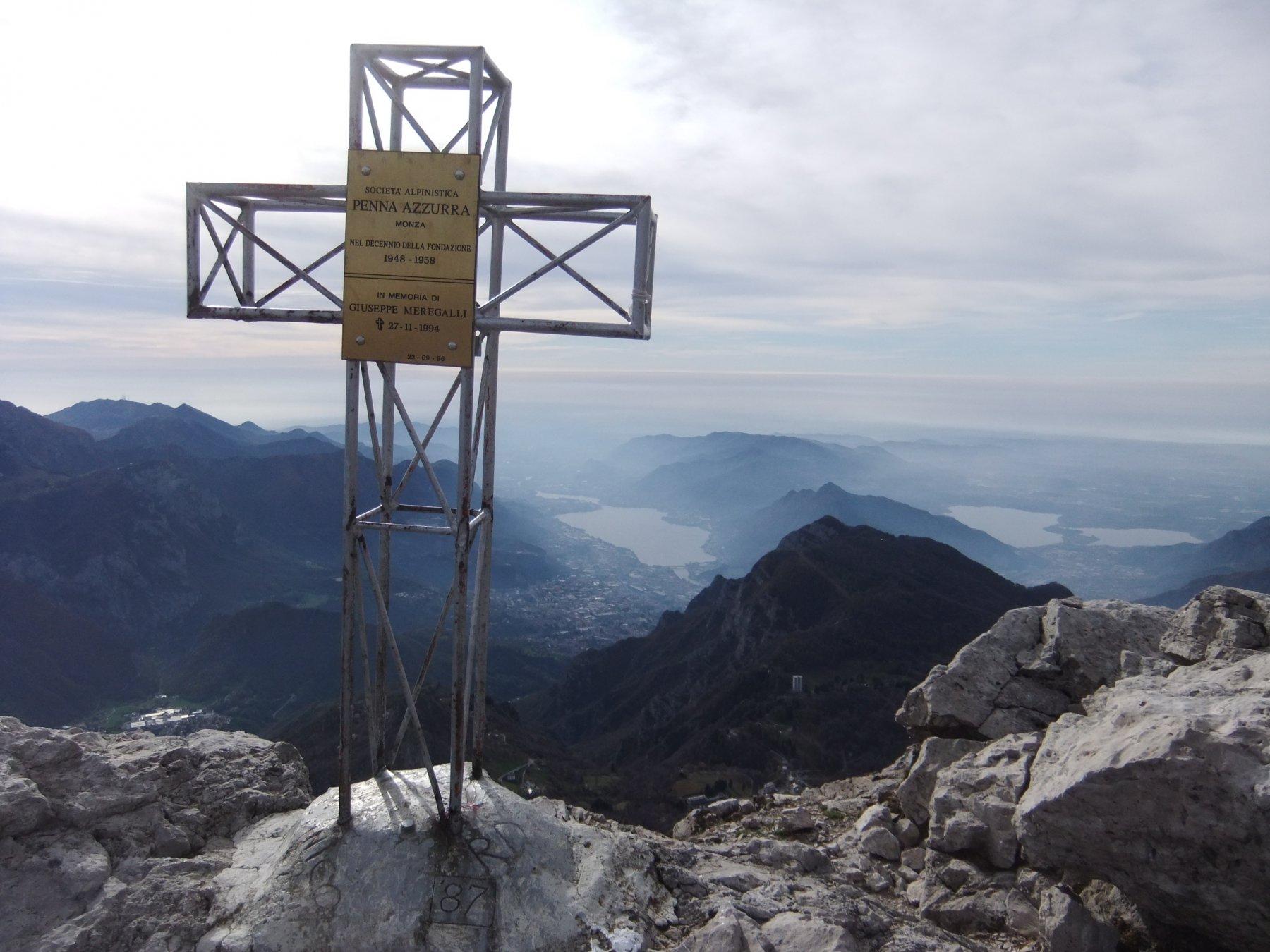 Dalla cima del Monte Campione .