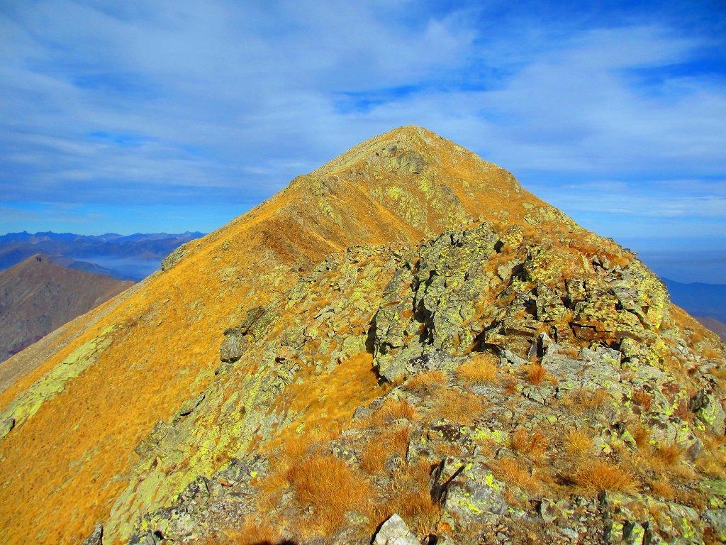 Un tratto di cresta prima della cima del Lausetto.