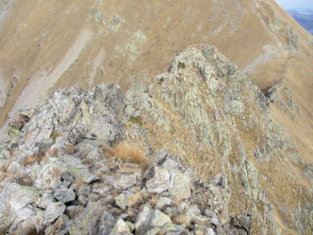 La cresta prima della cima della Vagliotta