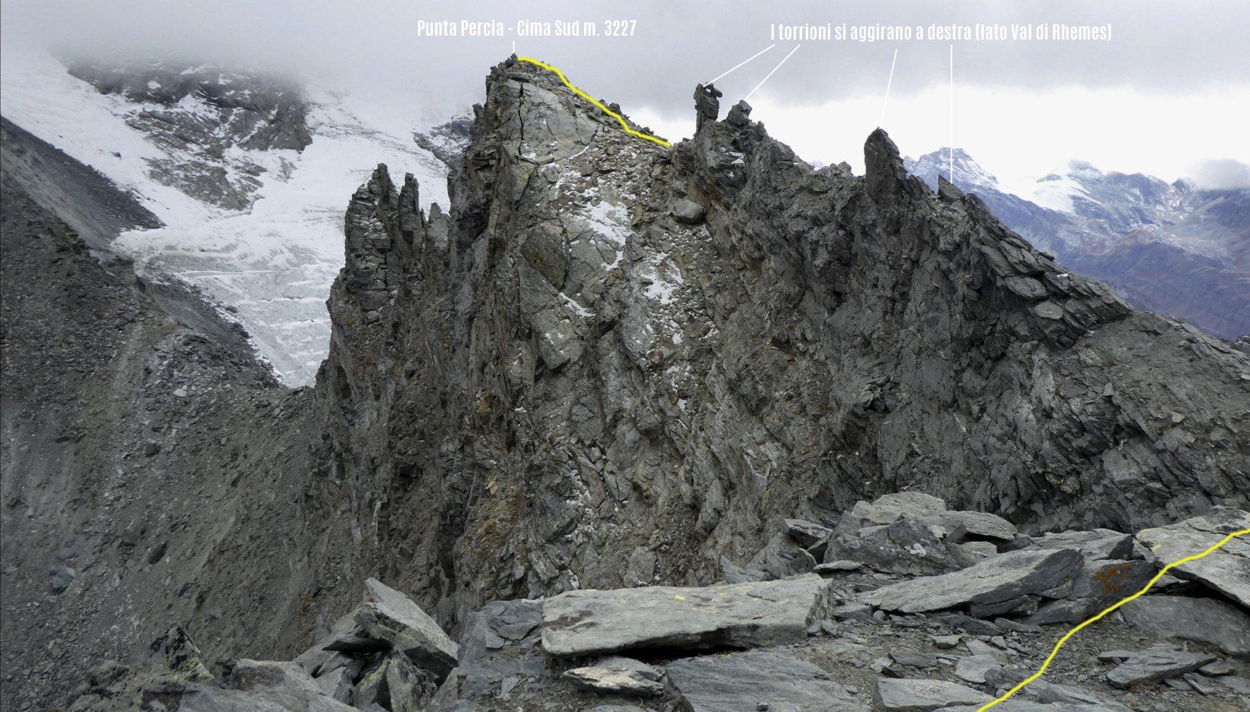 ultimo tratto del percorso per raggiungere la cima della Punta Sud