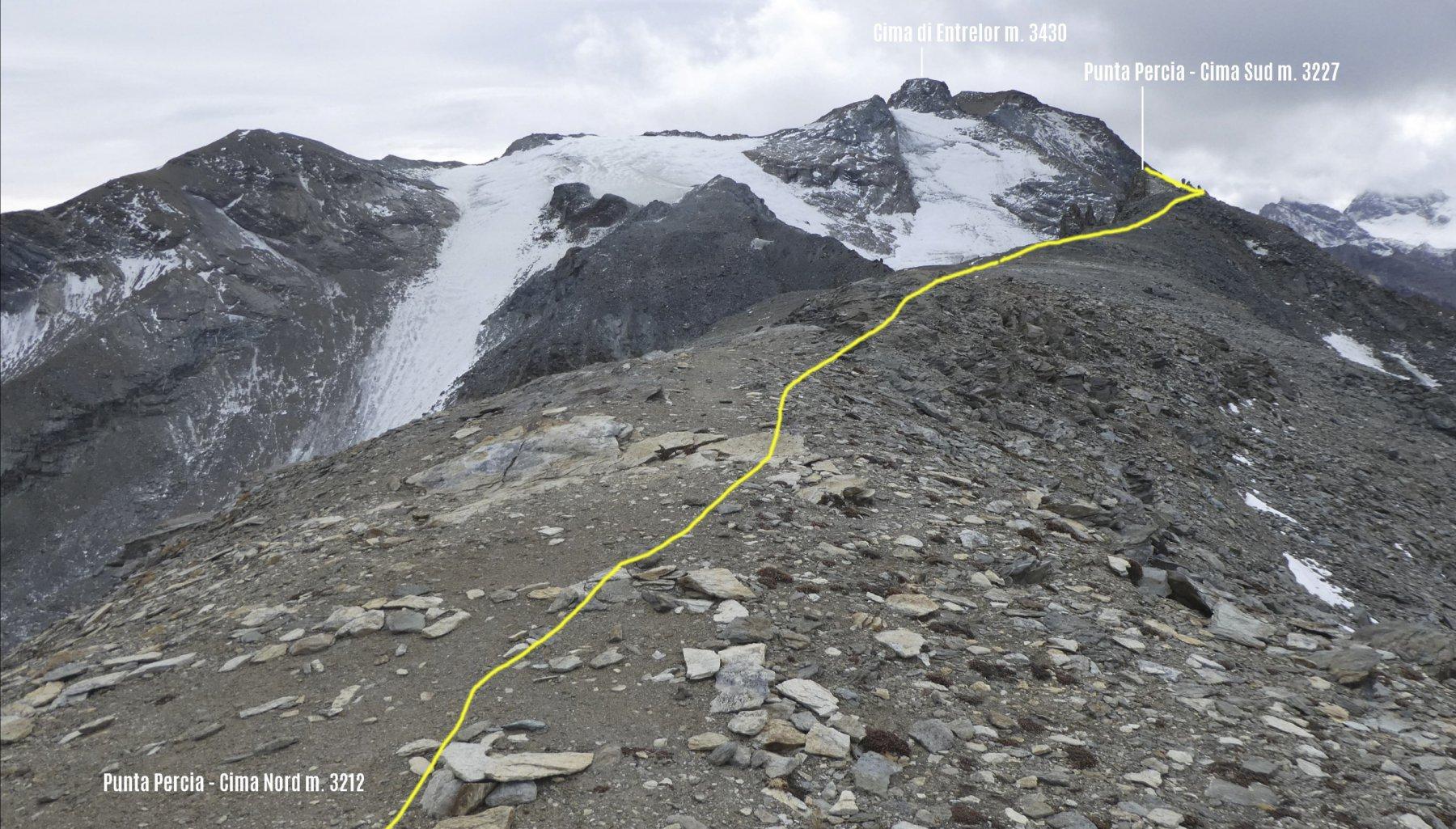 parte finale del percorso tra le due vette della Punta Percia