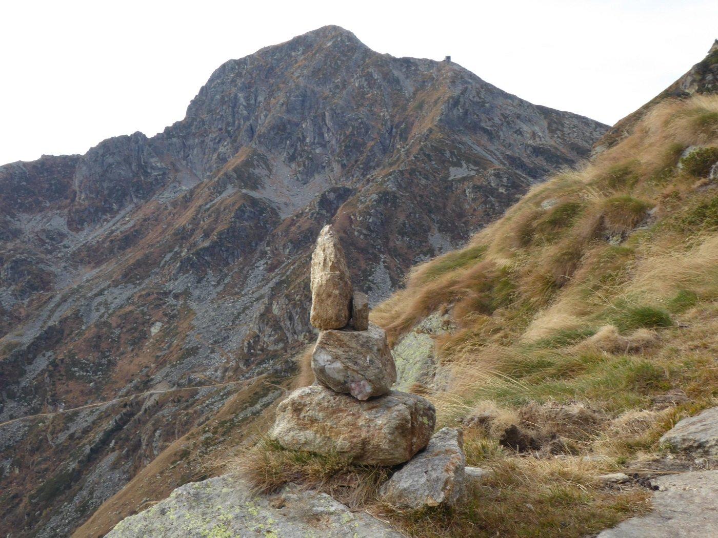 Il Mucrone visto da poco a monte dell'Alpe Trotta.