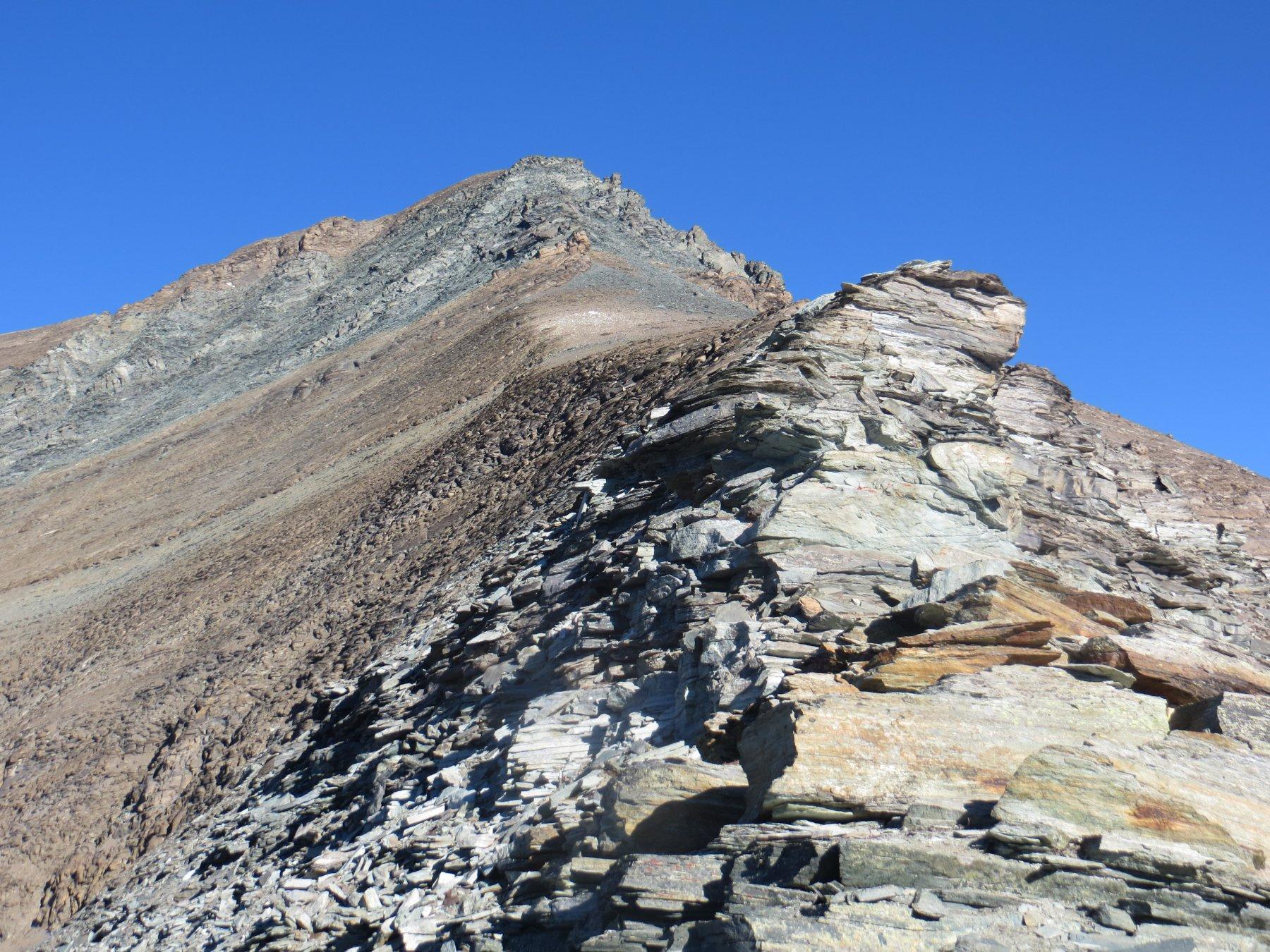 La Bianca dalla cresta attorno ai 3500 metri di quota