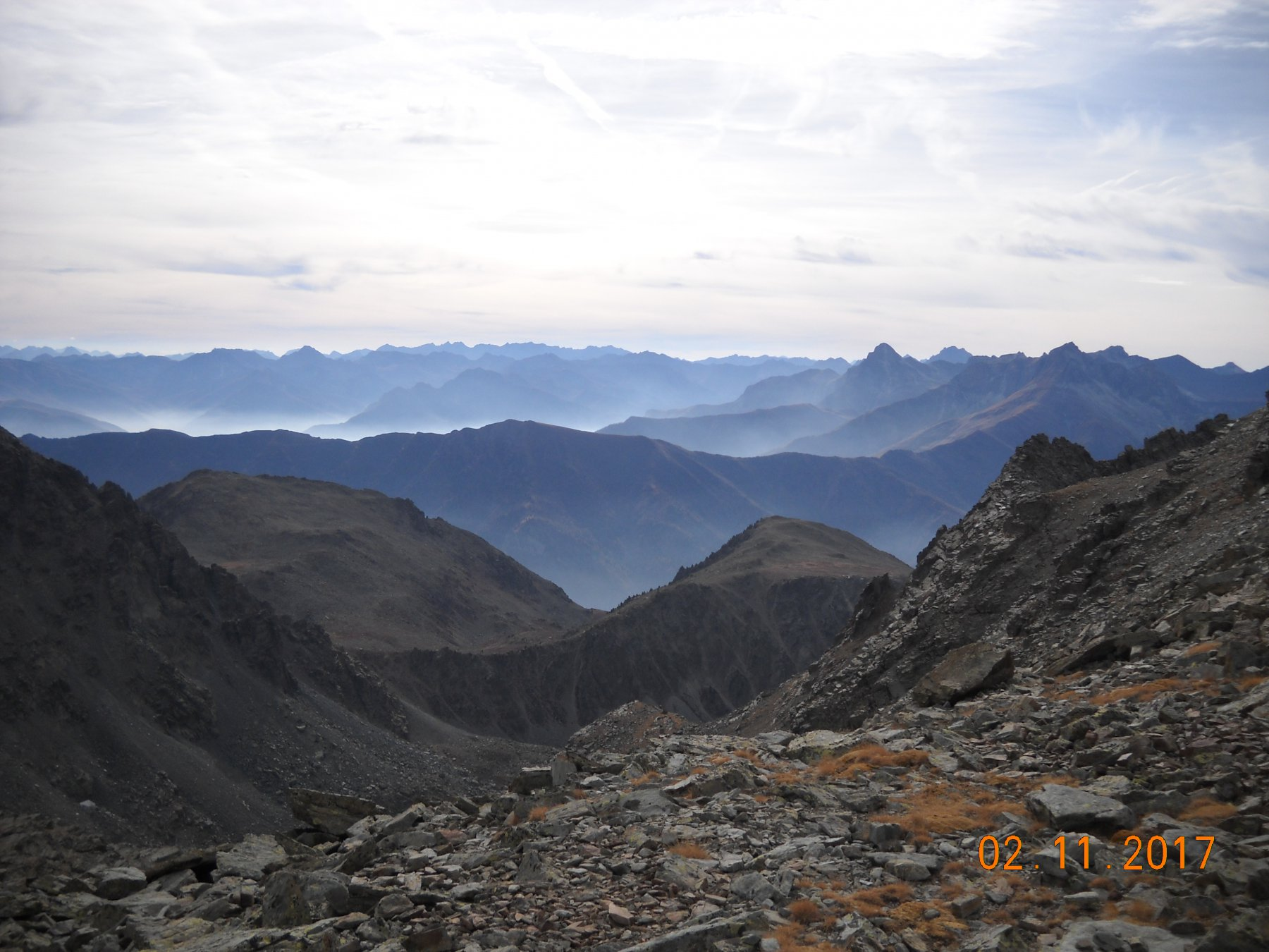 panorama dal passo Calatà 2940mt.