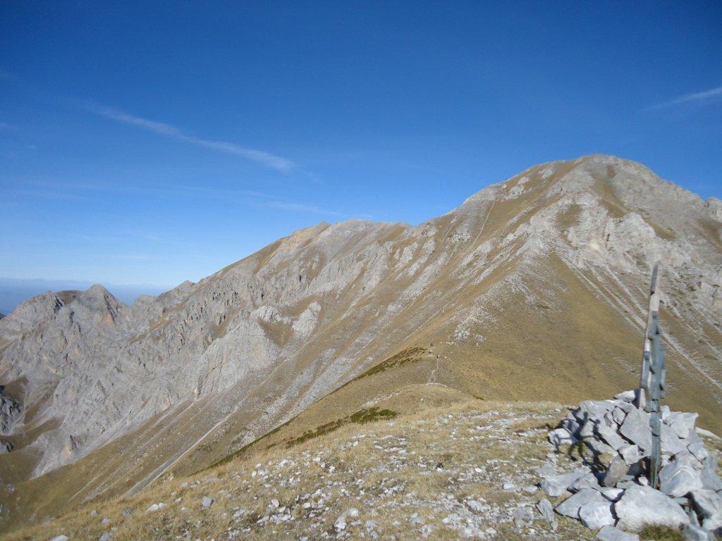 Bec d'Orel e cresta verso il Bussaia dal Pianard