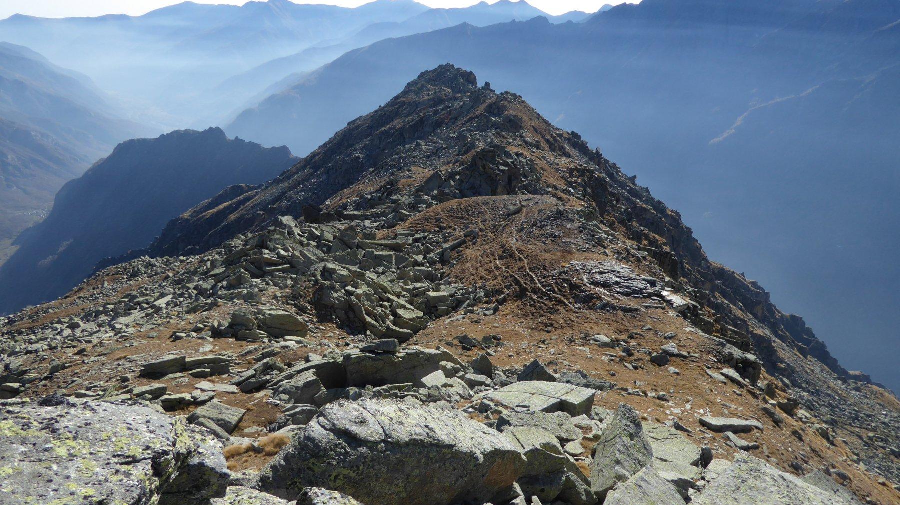 La cresta, vista da quota 2594