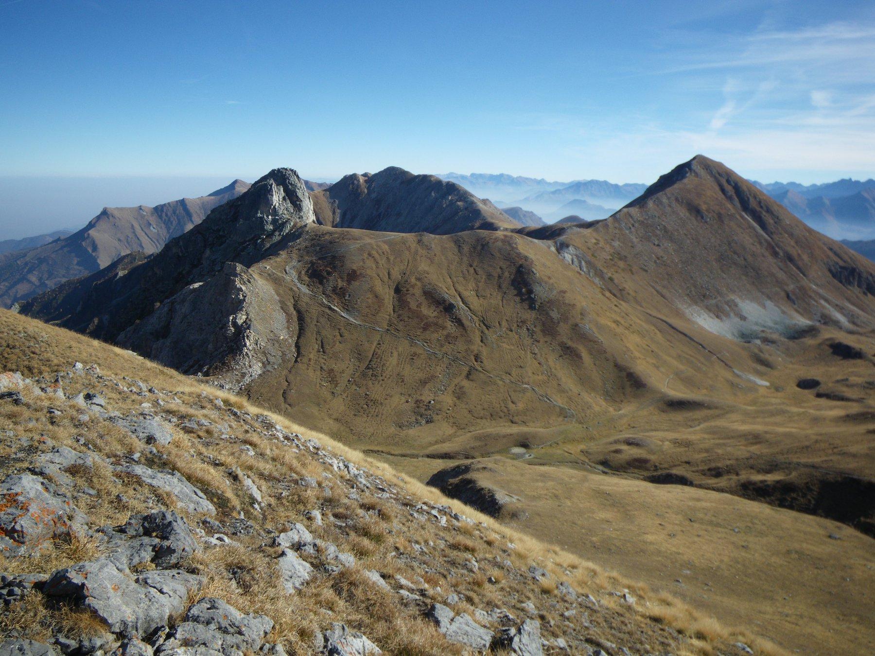 Parvetto e Punta Parvo dalla cima 2488