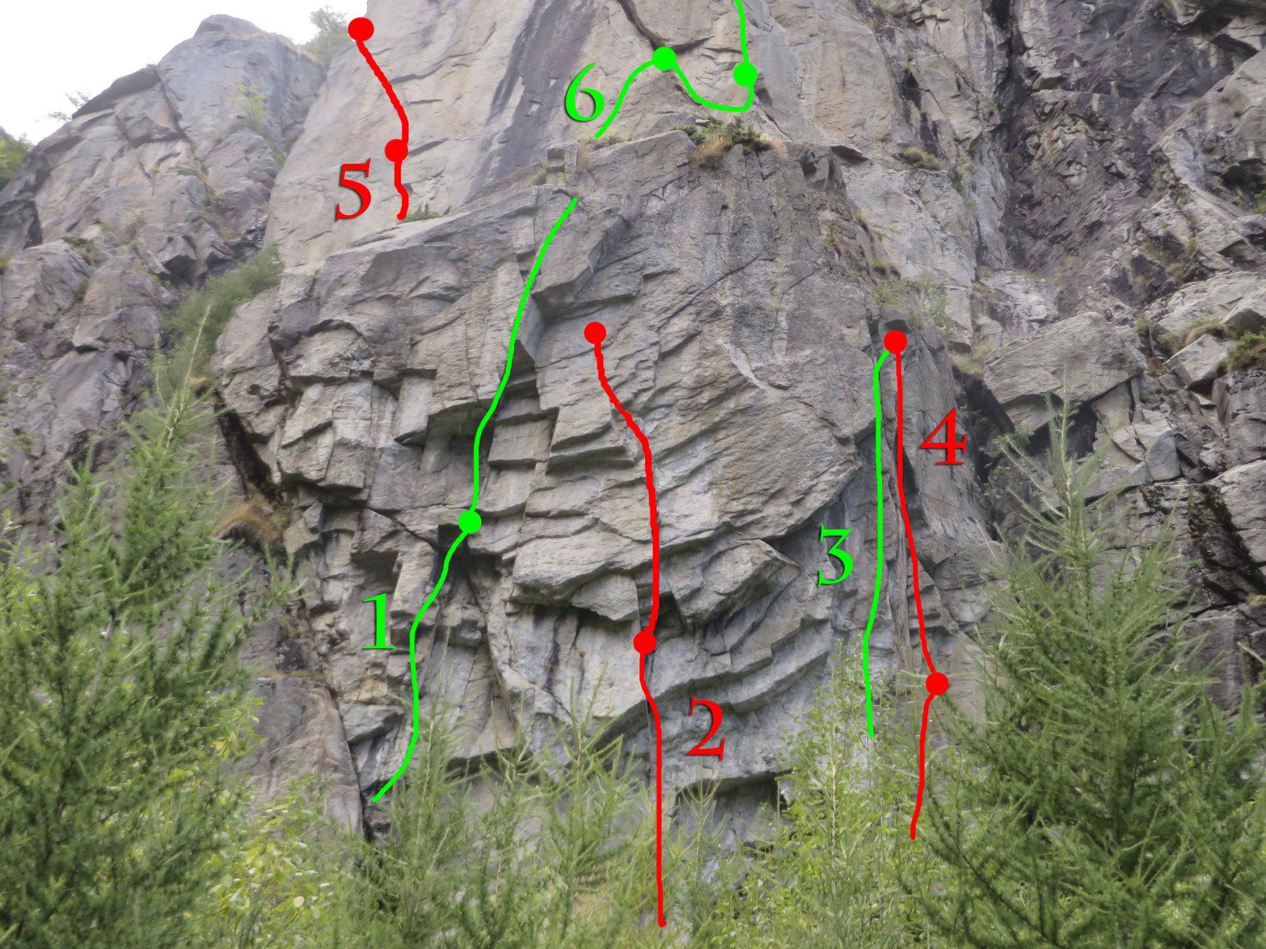 settore basso sinistro. i primi 15 metri son nascosti dagli alberi