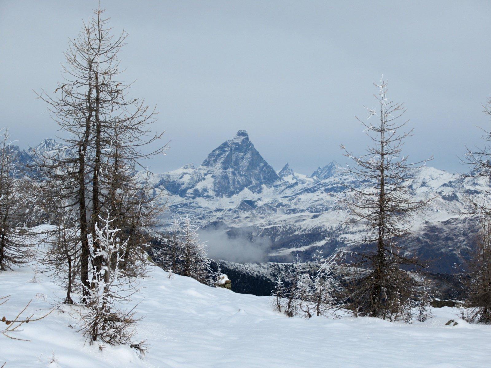 Zoomata sul Cervino dal Col de la Croix...