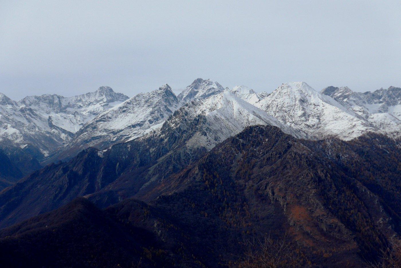 Bel panorama dal colle della Forchetta