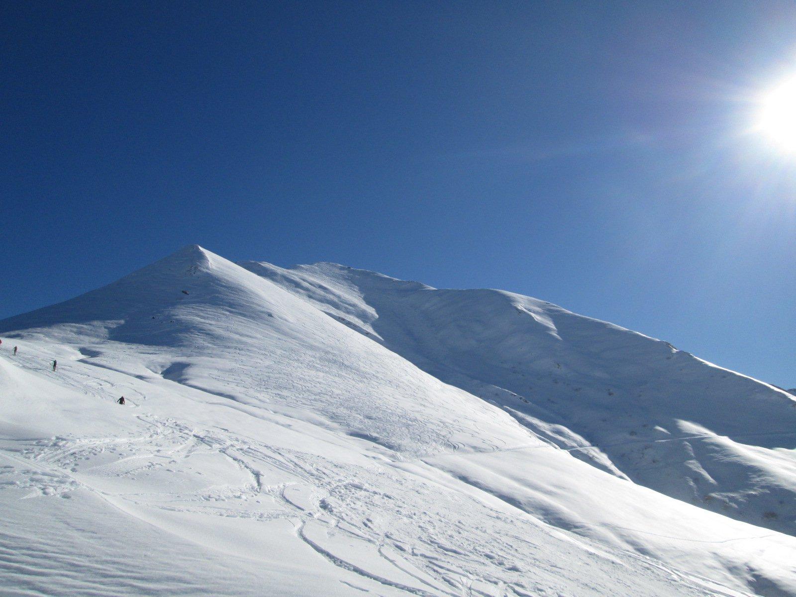 la cima da Colla Bauzano