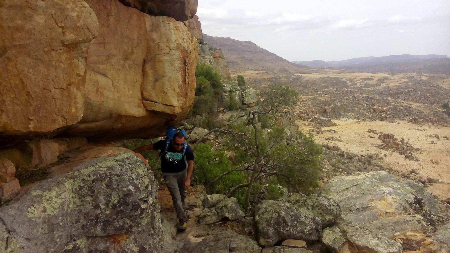 accesso al settore esterno di Sandriff Crag