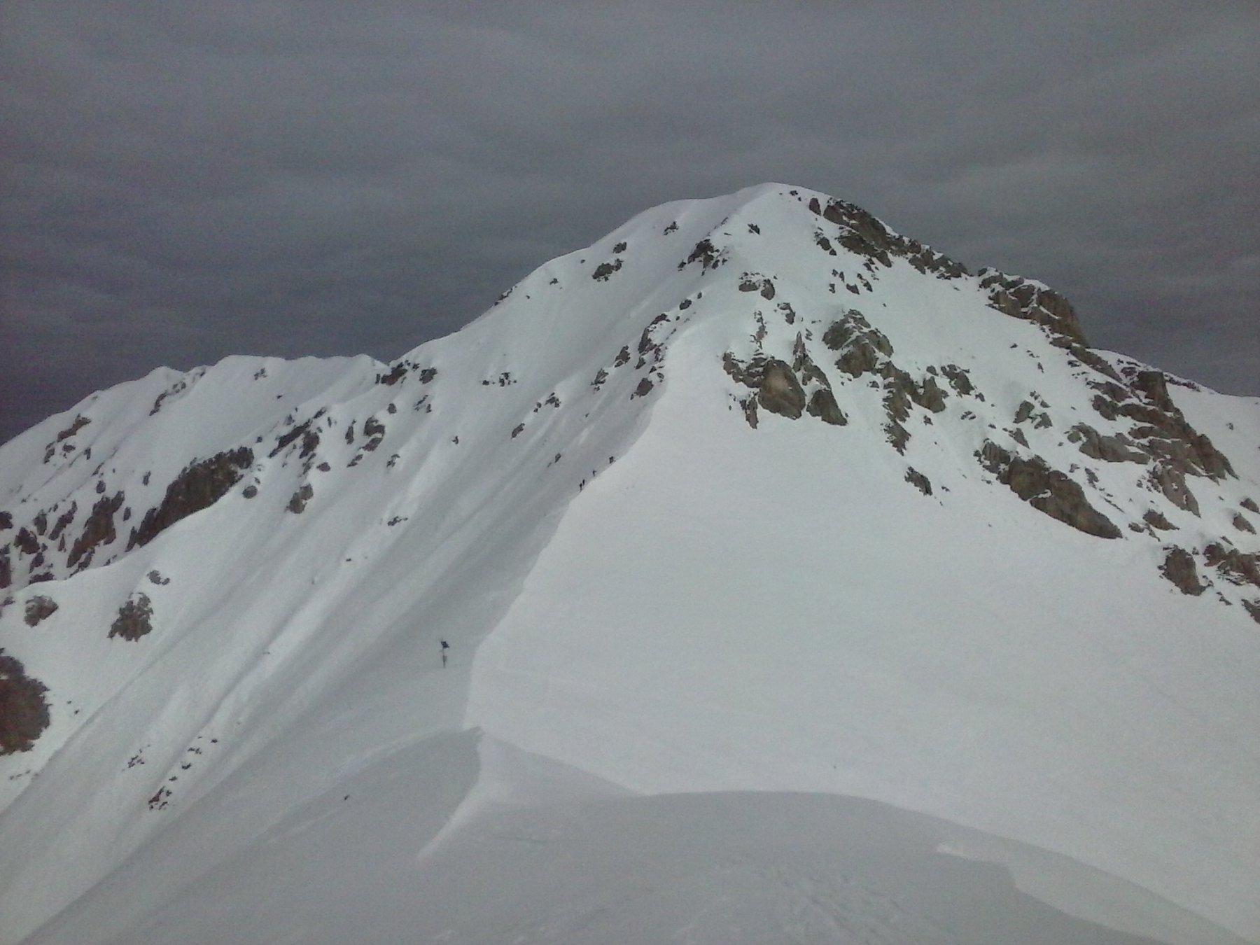 Bec d'Orel e skilap sulla cresta di salita