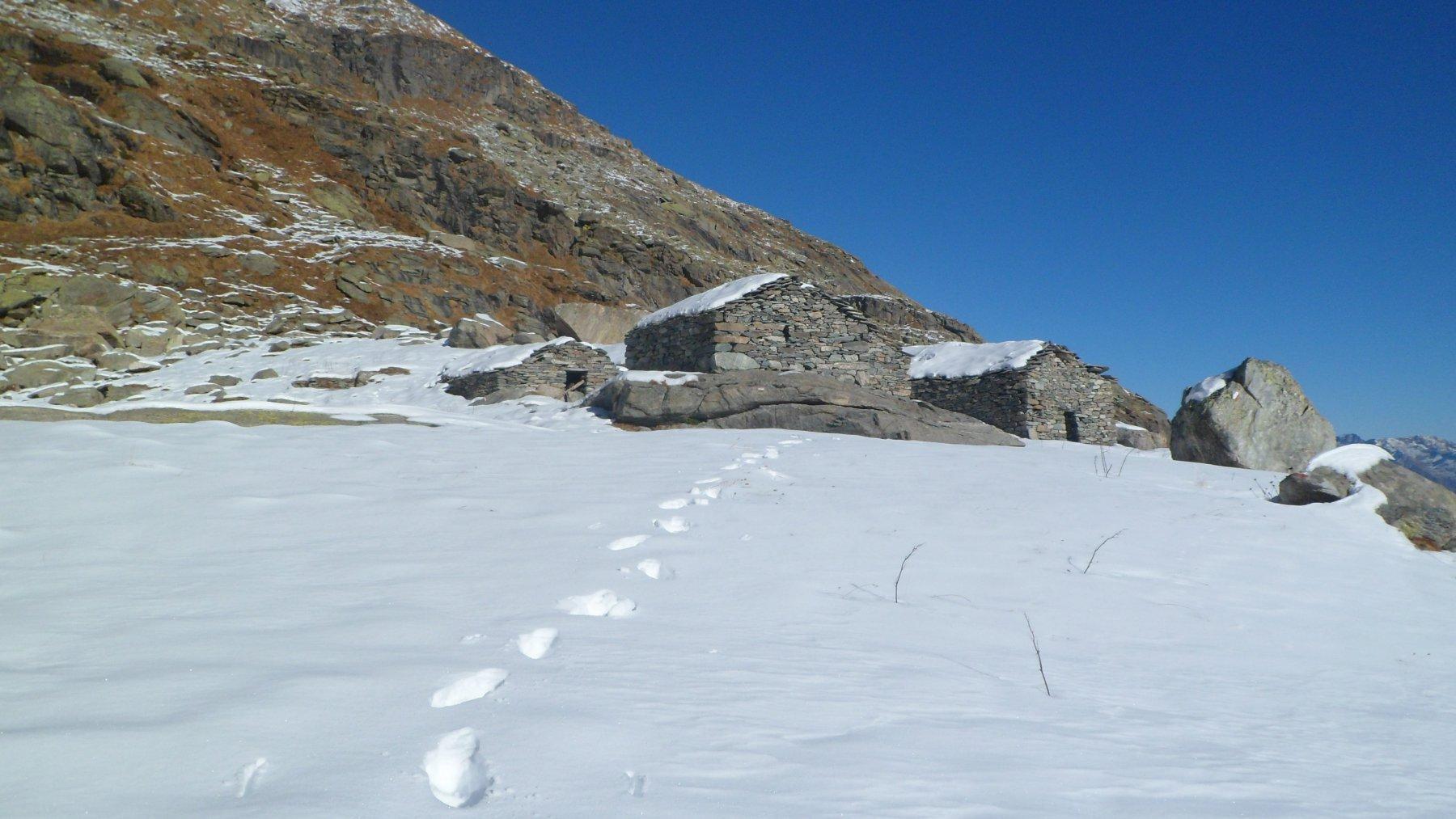 Alpe Boiret superiore e impronte