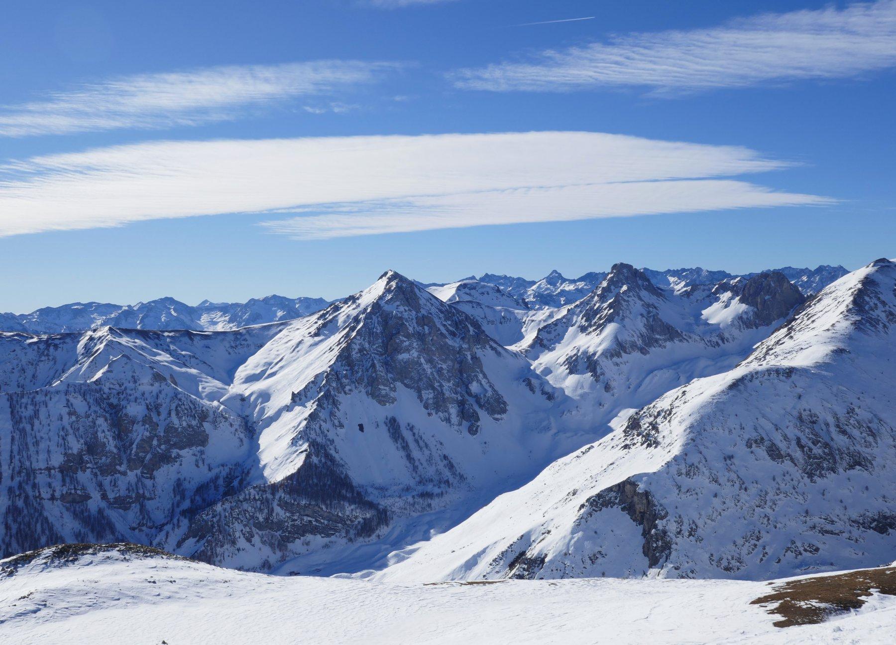 Vista verso monte Salé e Savi