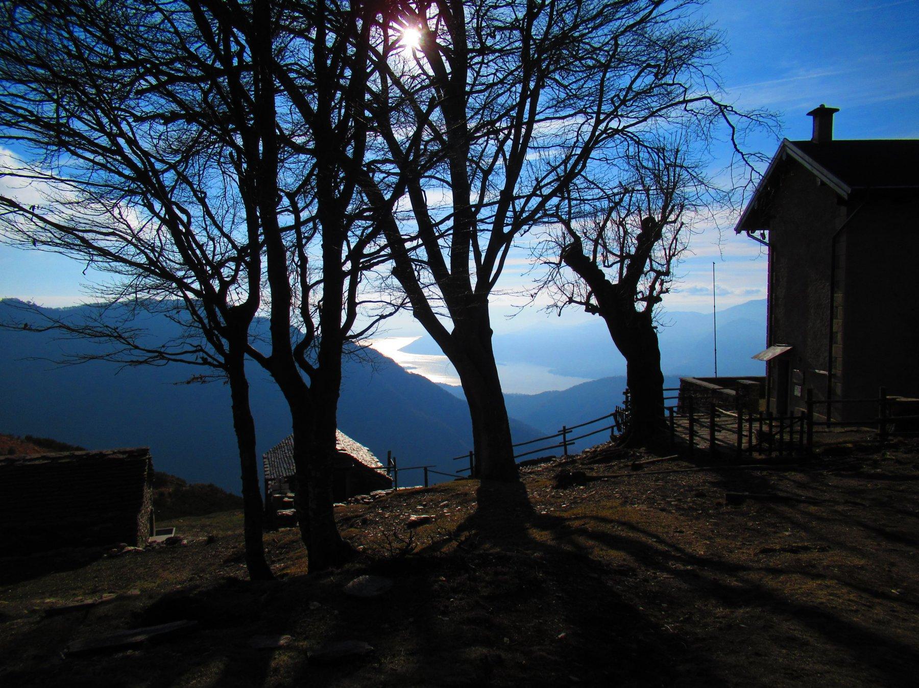 Panorama dal rifugio verso il Lago Maggiore