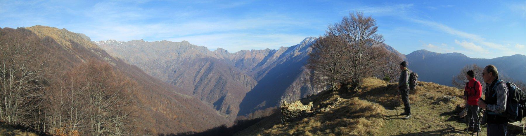 Panorama dall'alpe Leciuri m. 1311