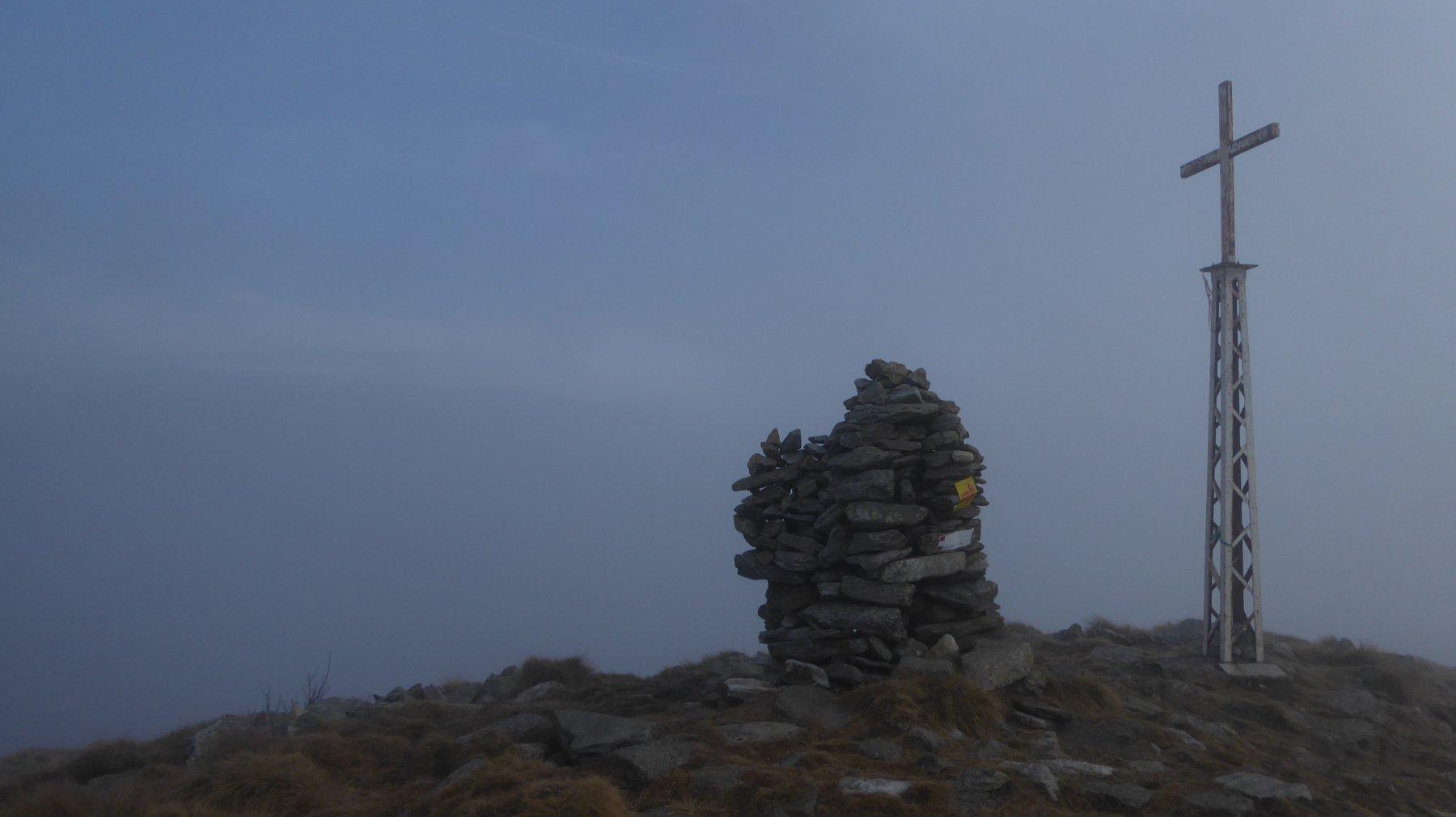 Cima Meres con freddo e nebbia