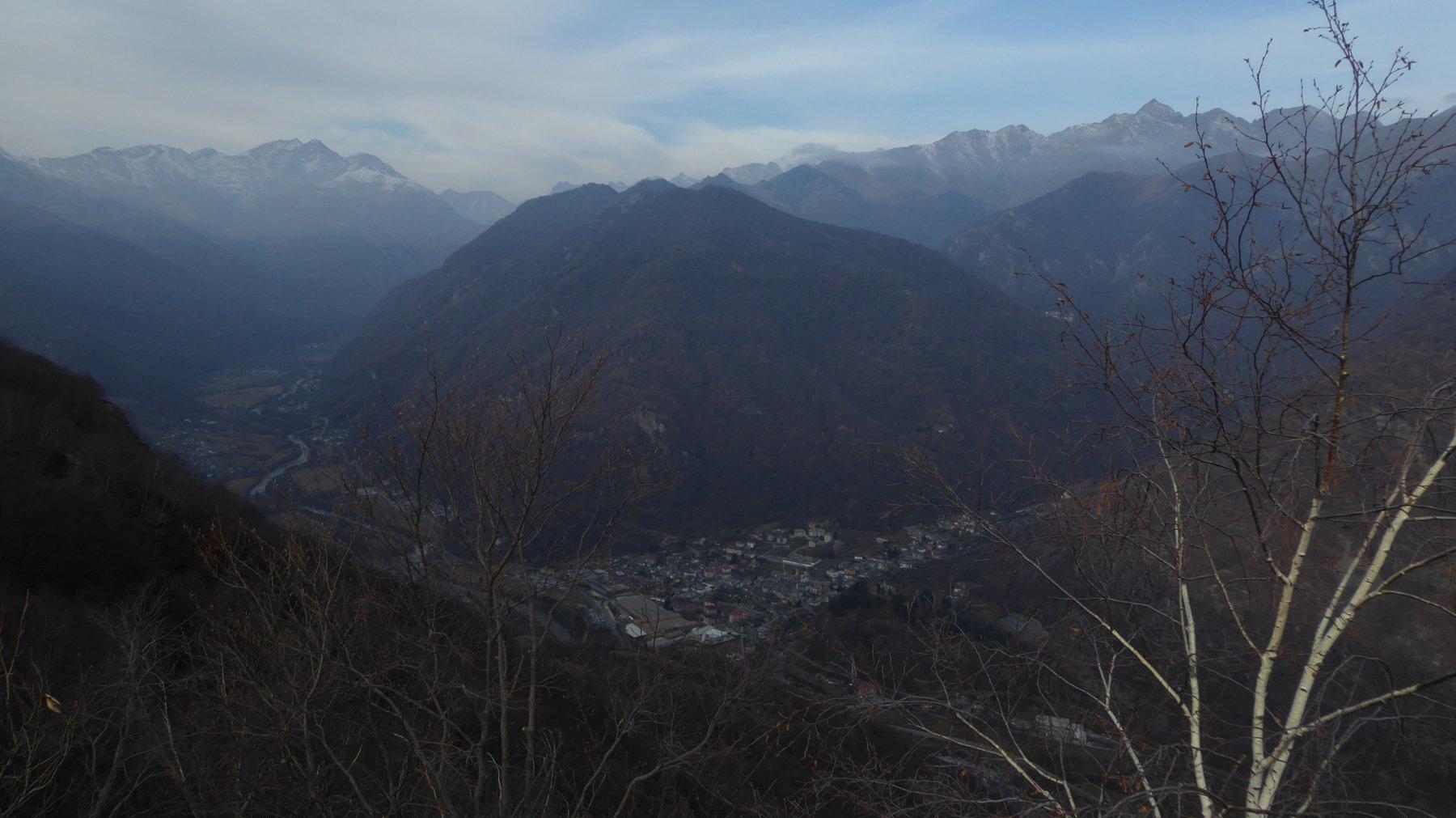 Vista sulla valle da Pichera