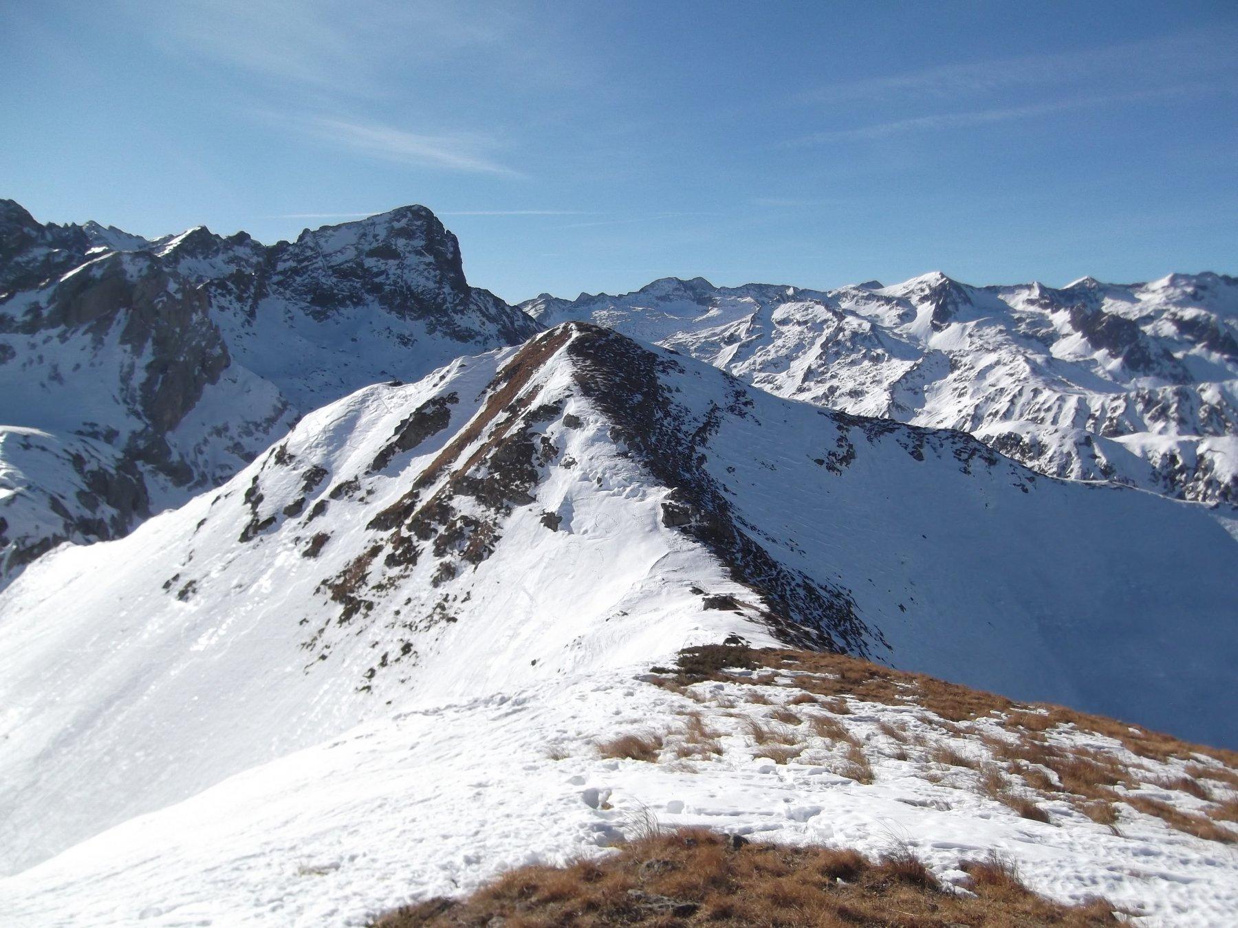 Monte Ciotto Mien dal Creusa occidentale.