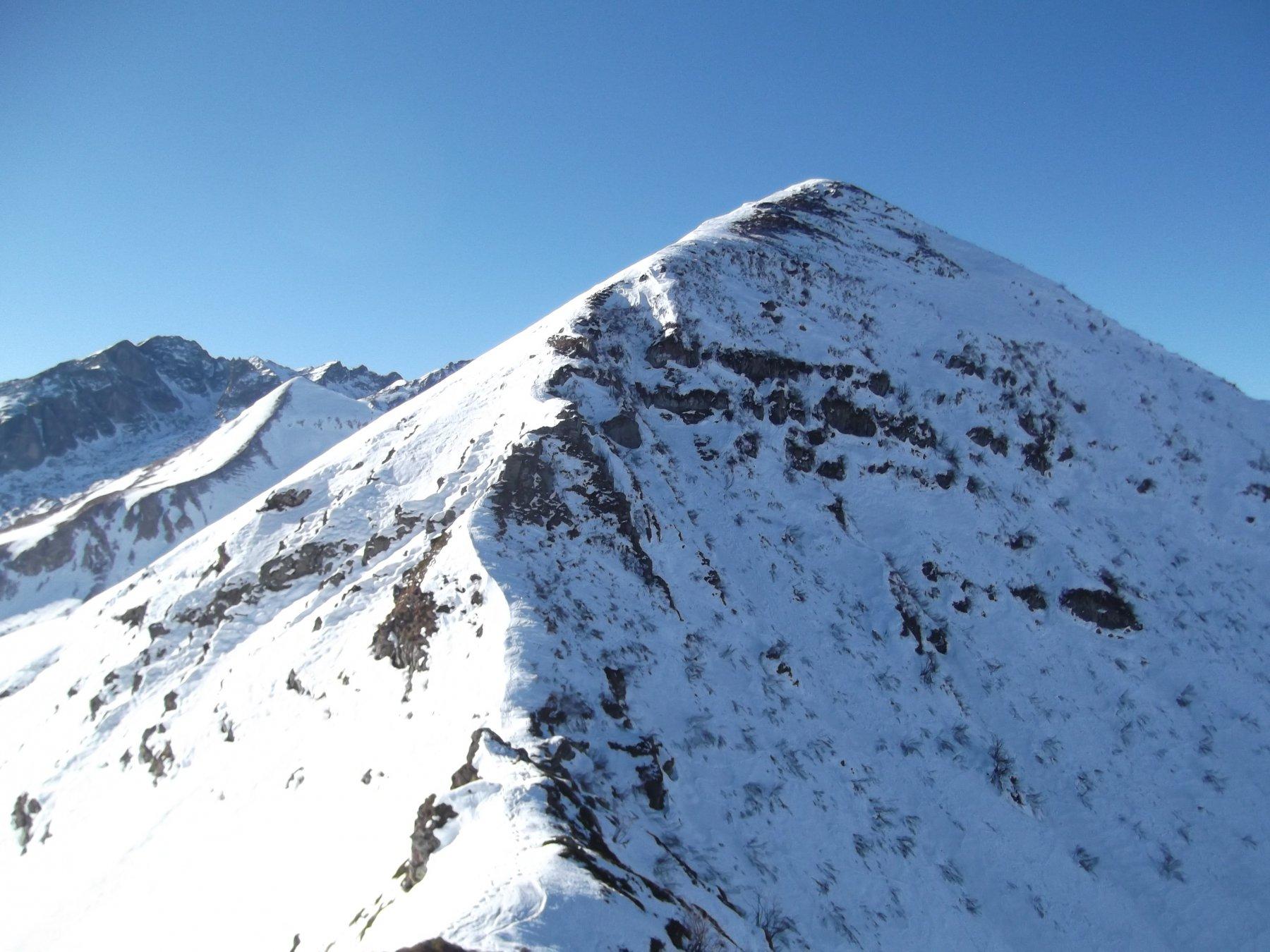La cresta per il Creusa orientale dalla Giosolette.