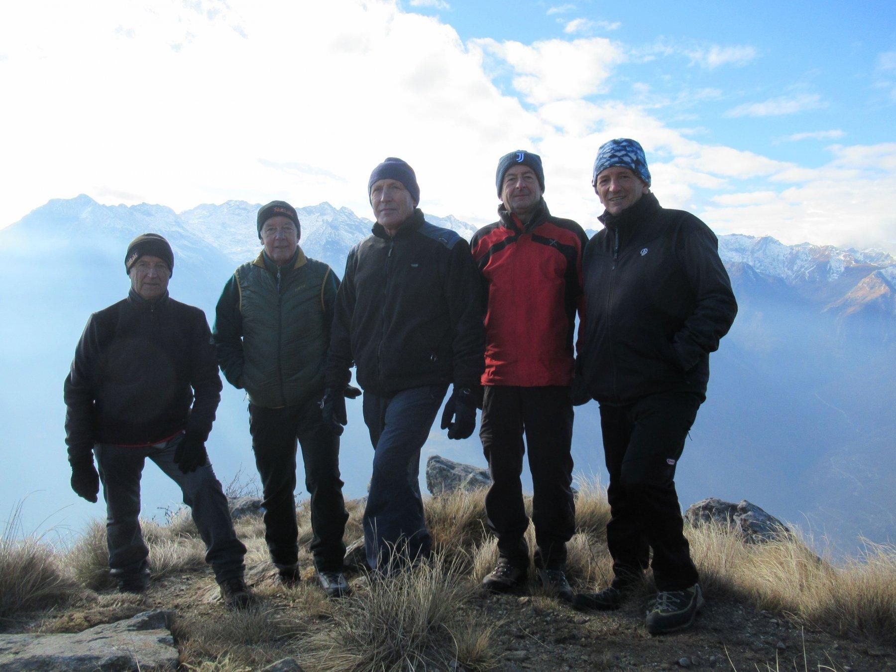 Con gli amici sul Mont de Beubi