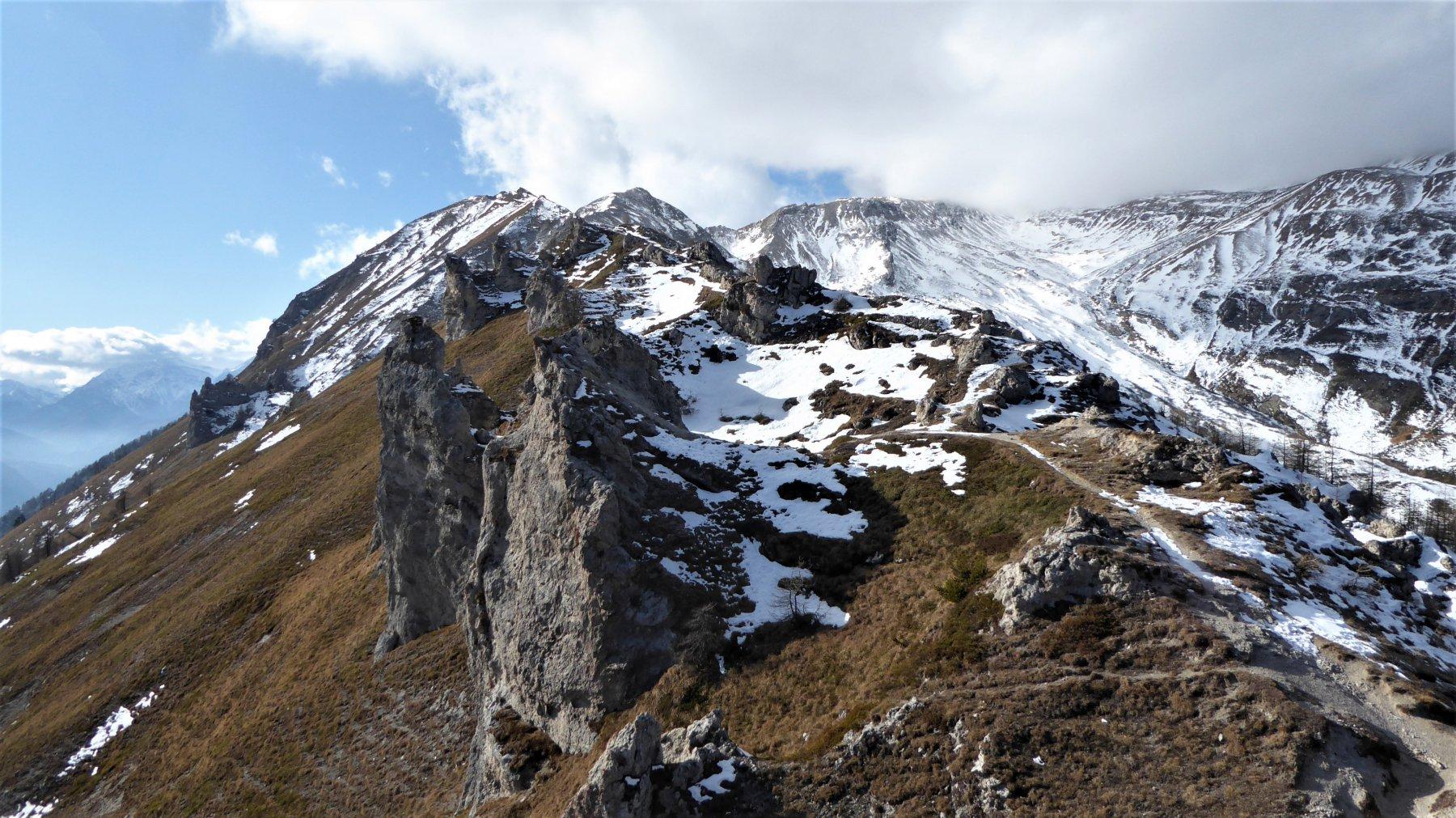 Cima del Vallone e vallone del Tiraculo