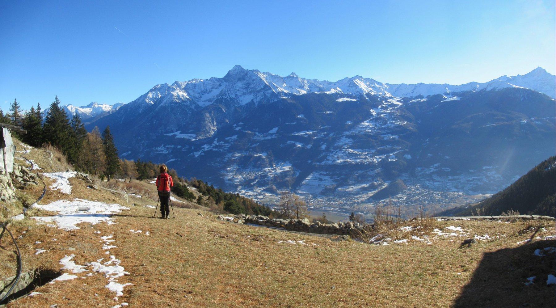 Panorama dall'Alpe Chacotteyes