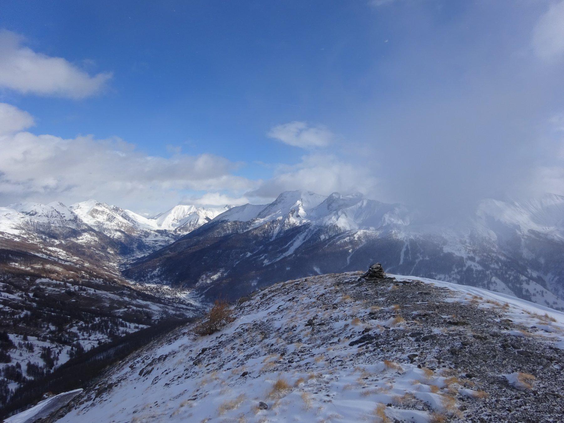 dalla cima verso la bassa Valle Chisone